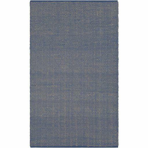Kewanee Hand-Woven Dark Blue/Wheat Area Rug Rug Size: Rectangle 5' x 7'6