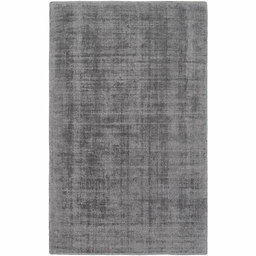 Lawrence Hand-Loomed Charcoal/Light Gray Area Rug Rug Size: Rectangle 2' x 3'