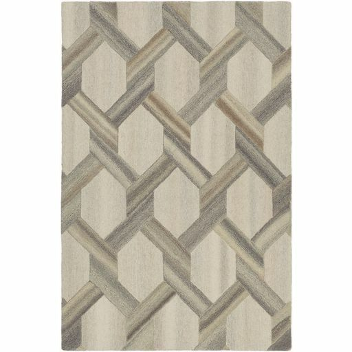 Ace Hand-Tufted Butter/Khaki Area Rug Rug Size: Rectangle 5' x 7'6