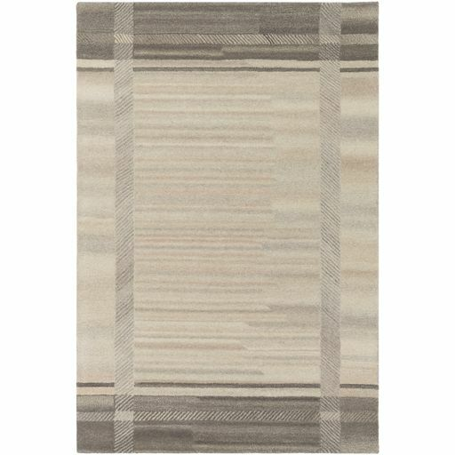 Ace Hand-Tufted Cream/White Wool Area Rug Rug Size: Rectangle 8' x 10'