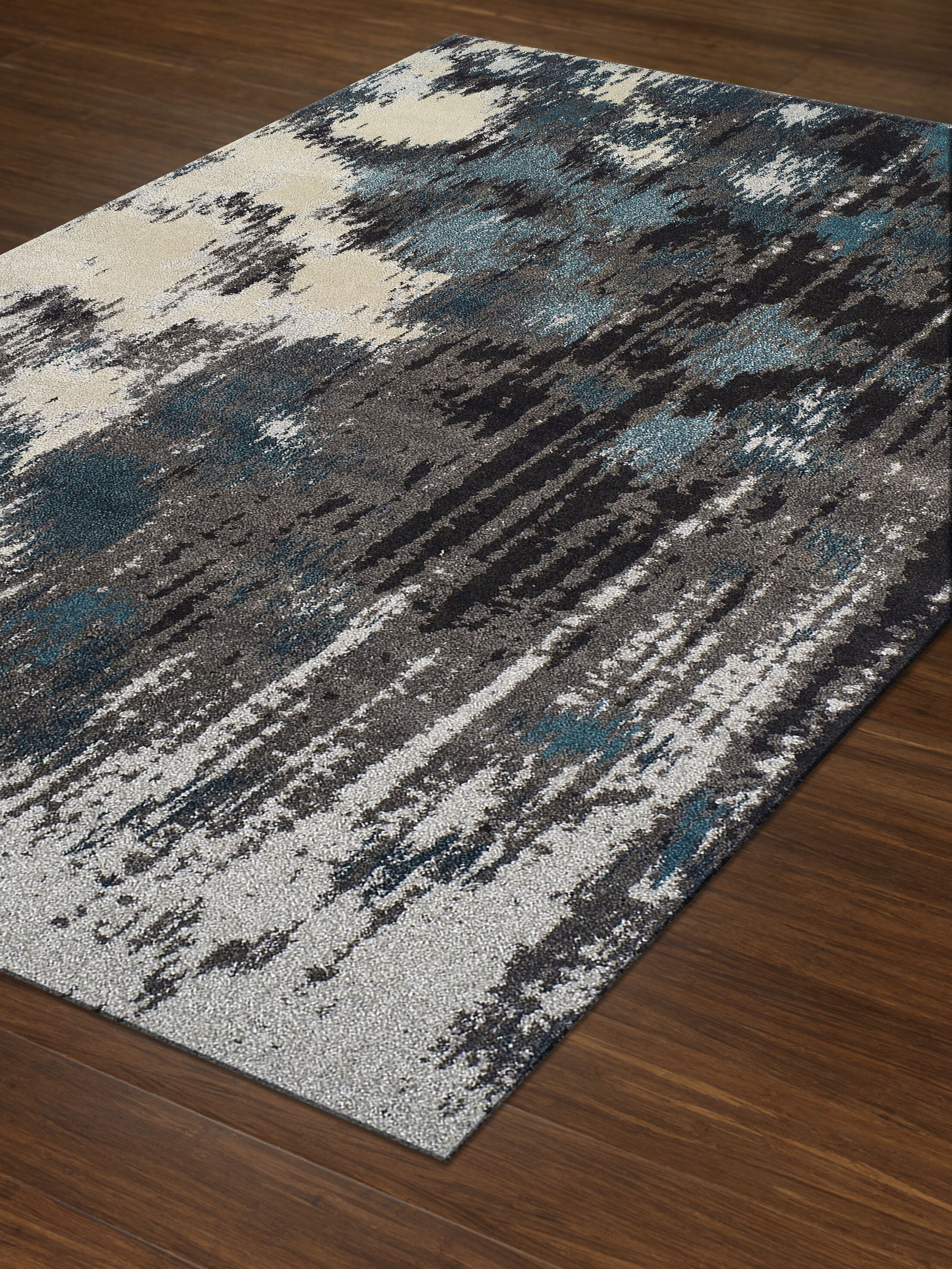 Dylan Gray Area Rug Rug Size: Rectangle 5'3