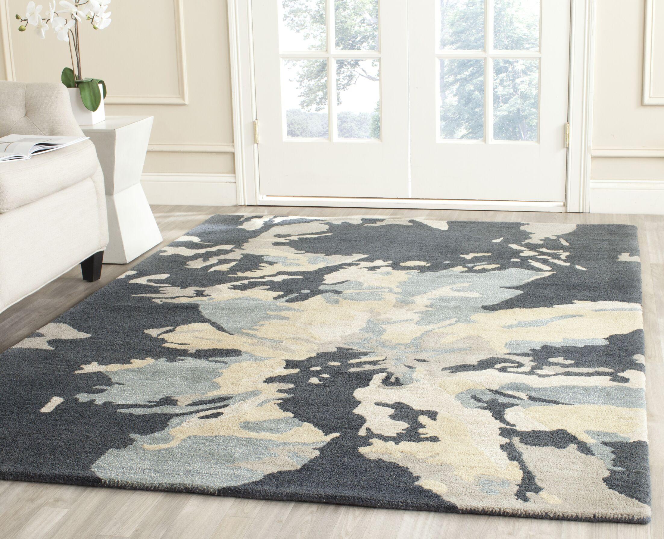 Adan Steel Blue Area Rug Rug Size: Rectangle 8' x 10'