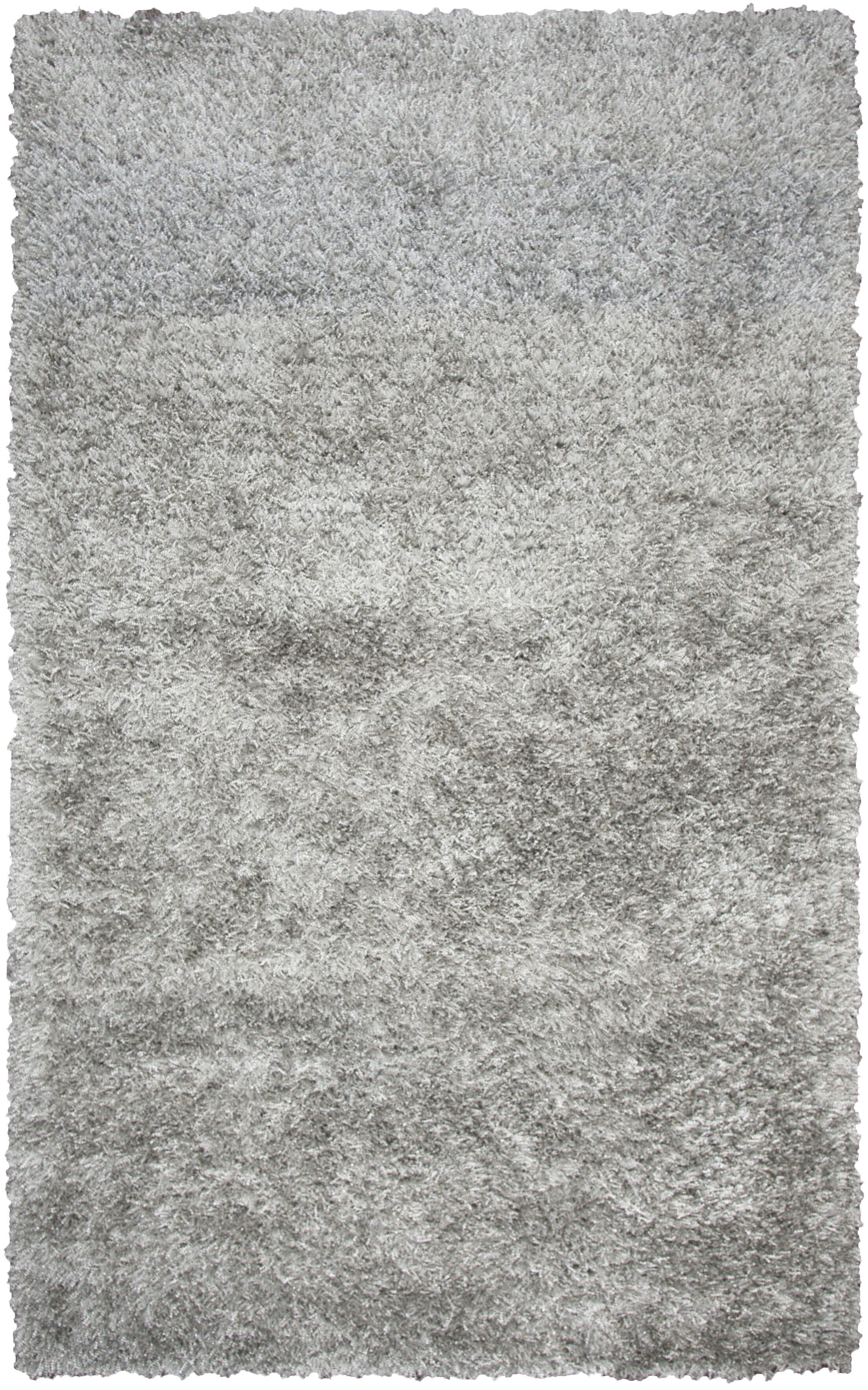 Villegas Hand-Tufted Gray Area Rug Rug Size: Round 3'