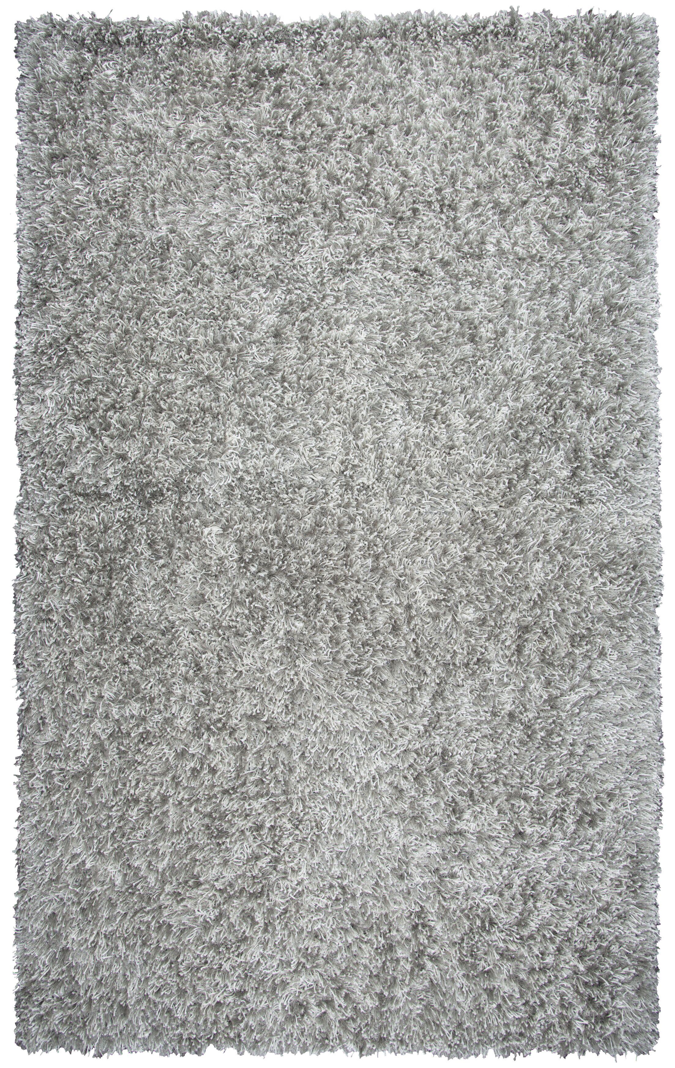 Villegas Hand-Tufted Light Gray Area Rug Rug Size: Rectangle 3'6