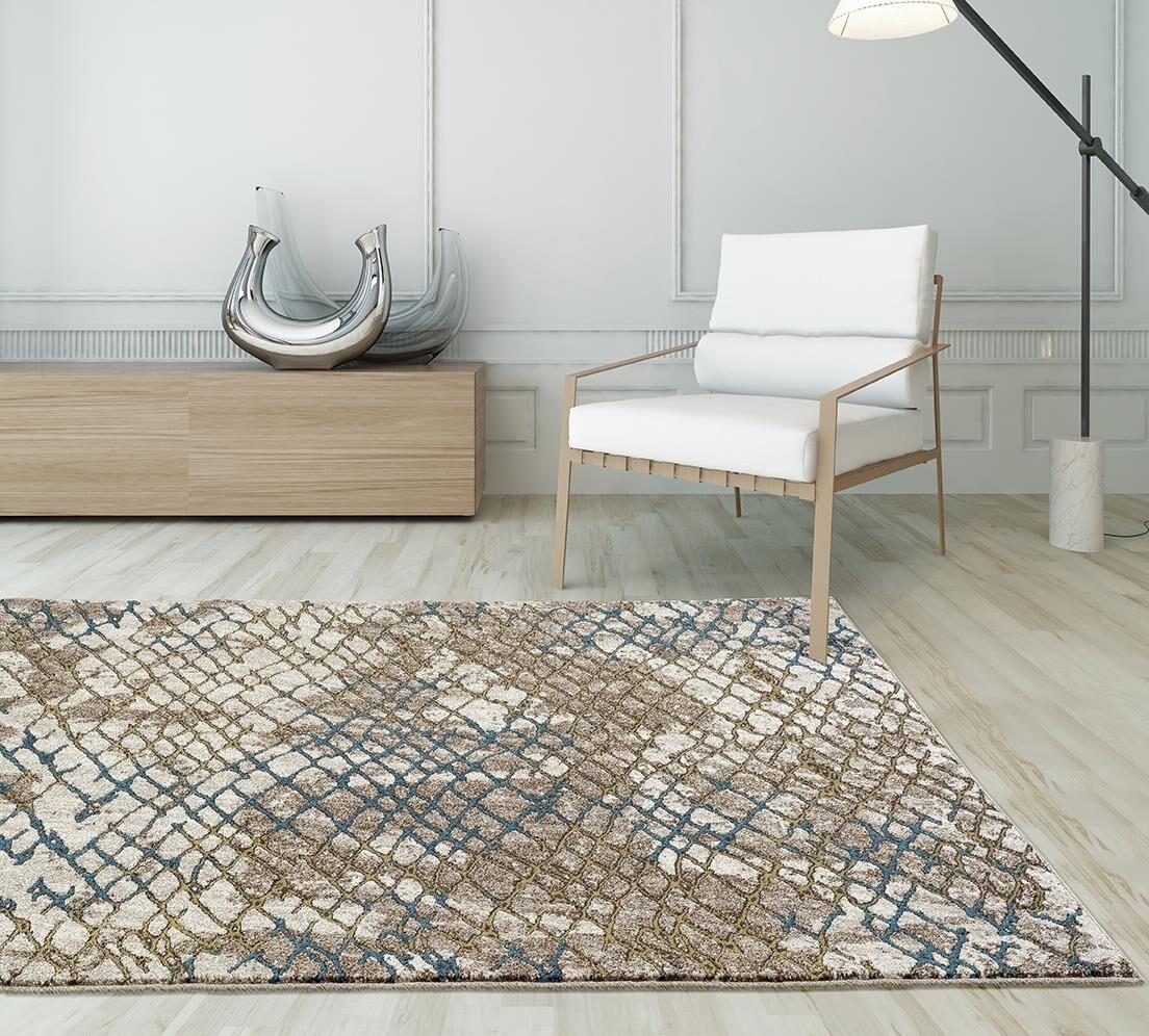 Lissette Ikat Beige/Gold Indoor/Outdoor Area Rug Rug Size: 5' x 7'