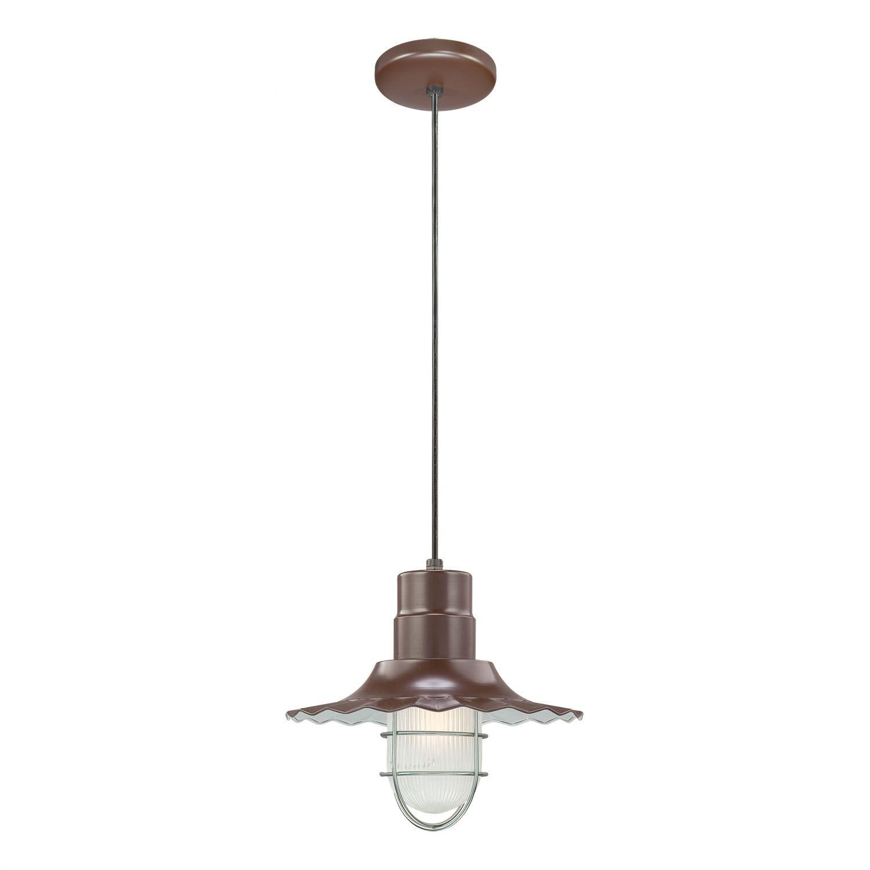 Fitzhugh 1-Light Cone Pendant Finish: Architectural Bronze, Size: 11.25