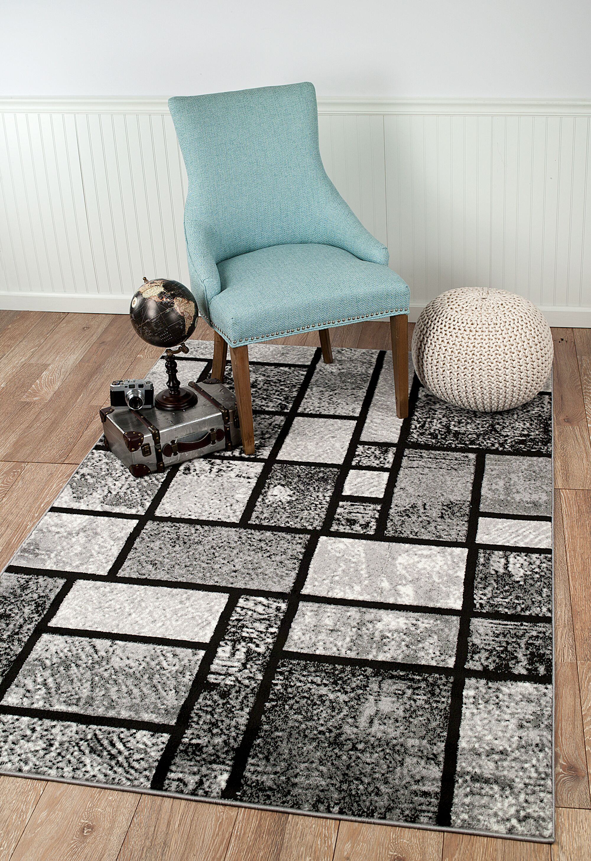 Russet Gray Area Rug Rug Size: Rectangle 7'4
