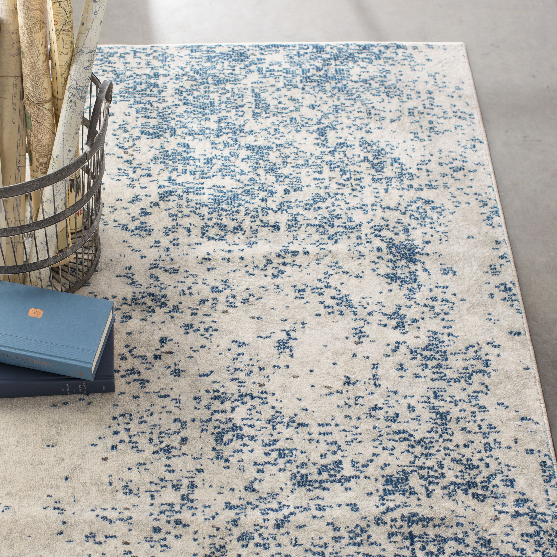 Terry Blue & Beige Area Rug Rug Size: Rectangle 7'10