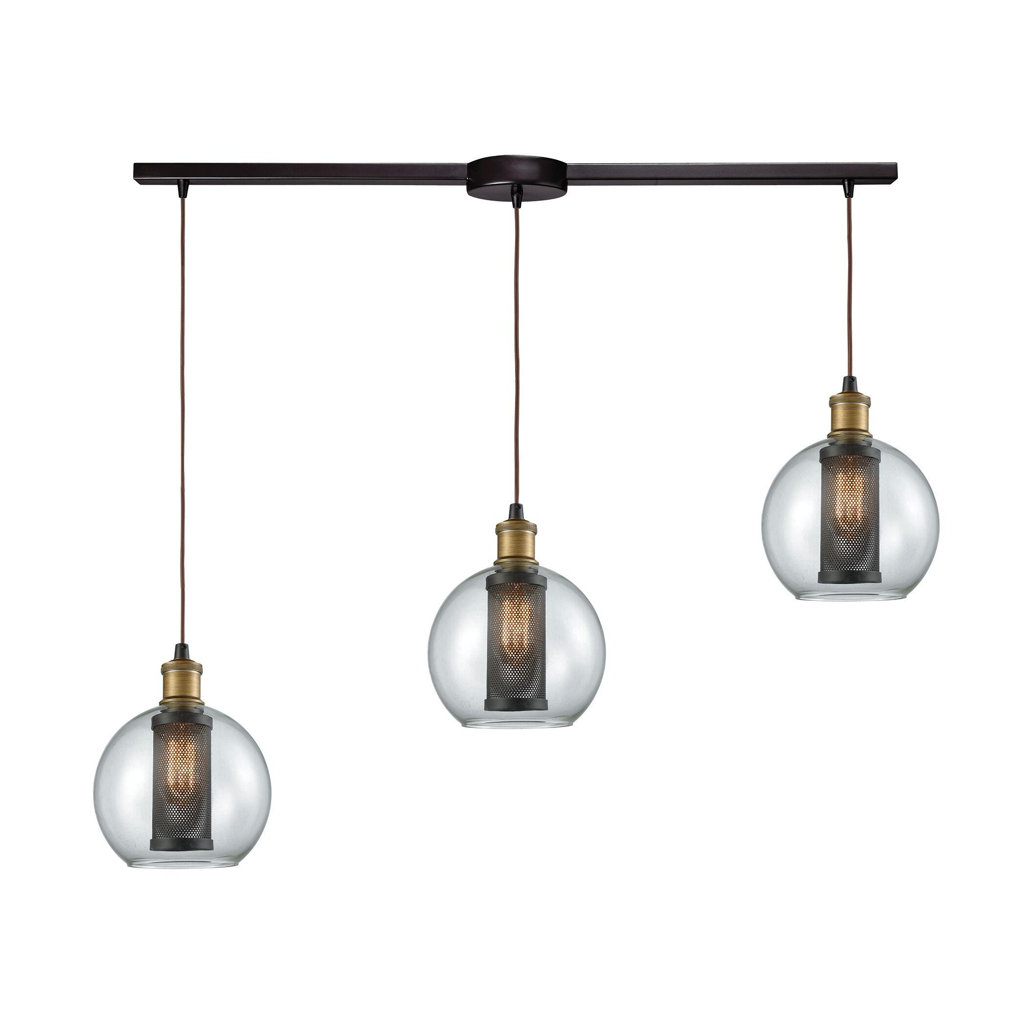 McEwan Industrial 3-Light Cluster Pendant