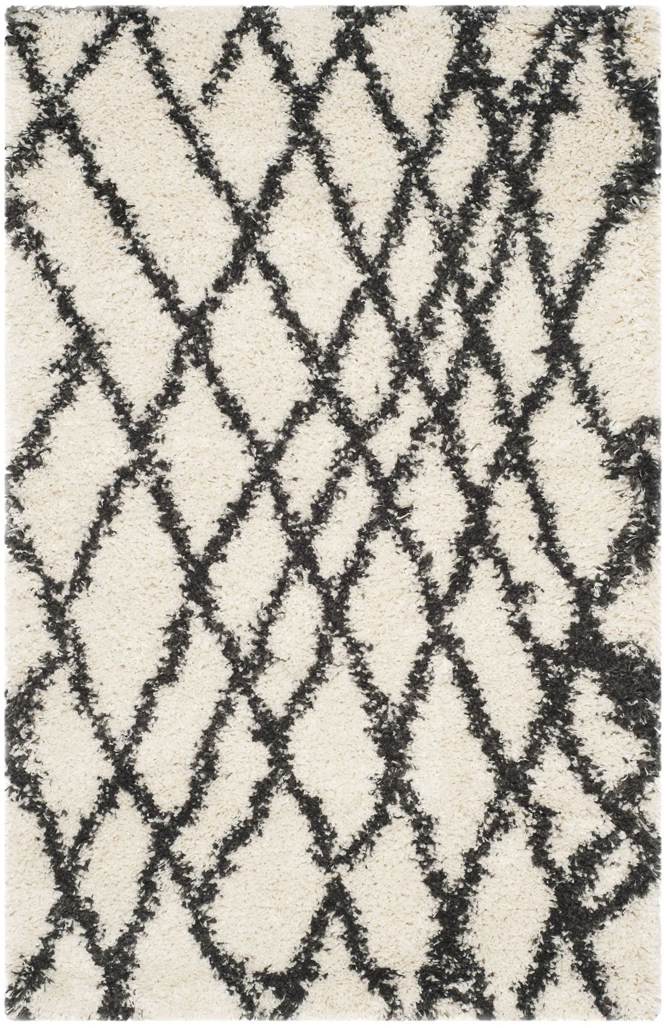 Malibu Ivory/Charcoal Area Rug Rug Size: Rectangle 3' x 5'