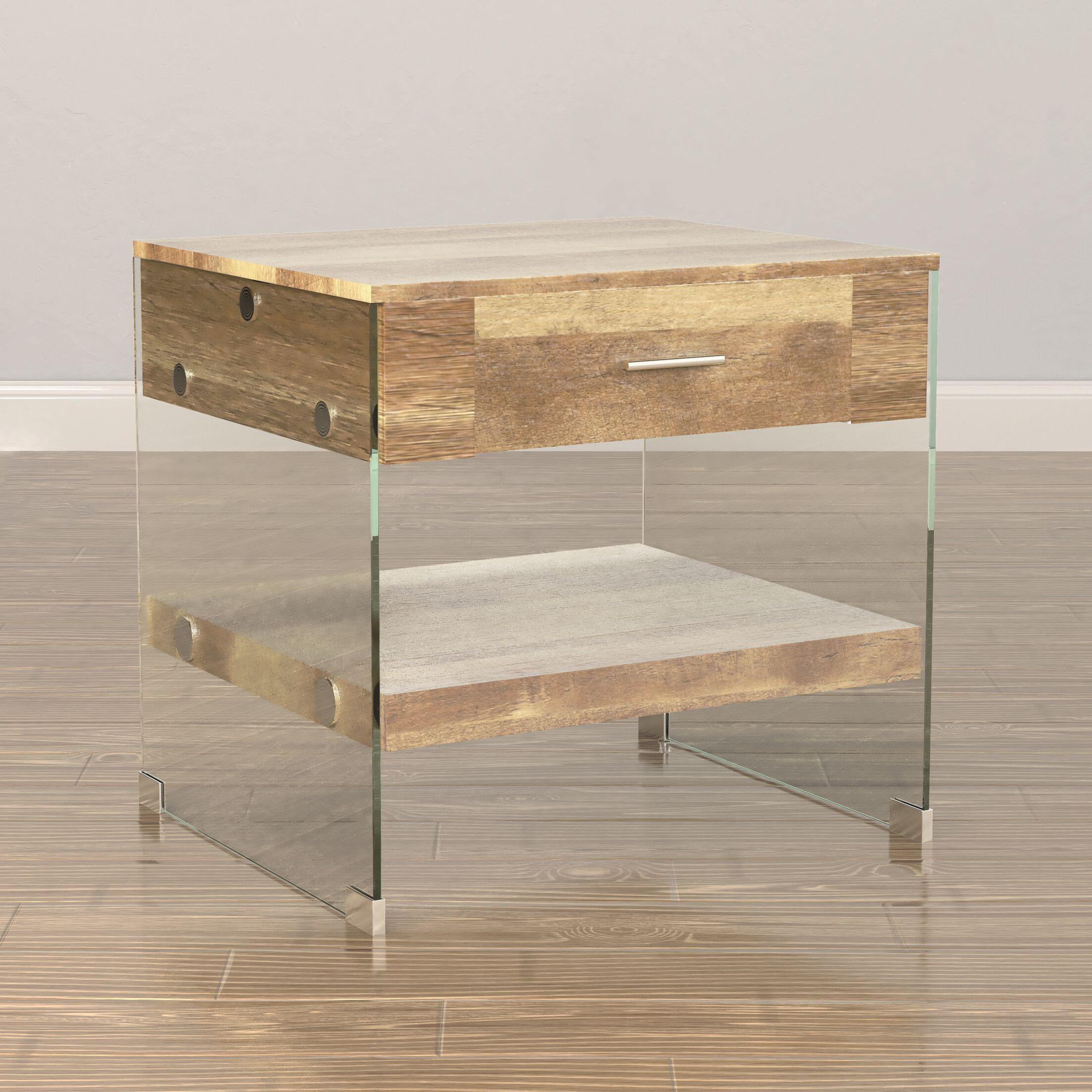 Guero Contemporary End Table Color: Rustic Brown