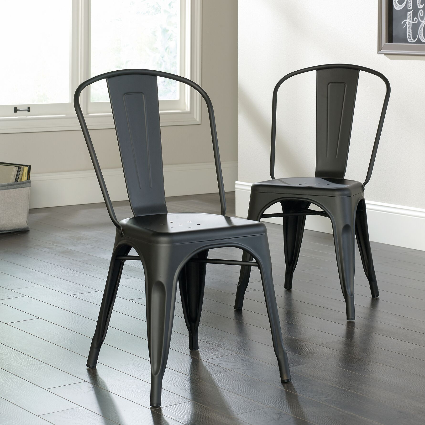 Cafe Side Chair Finish: Black