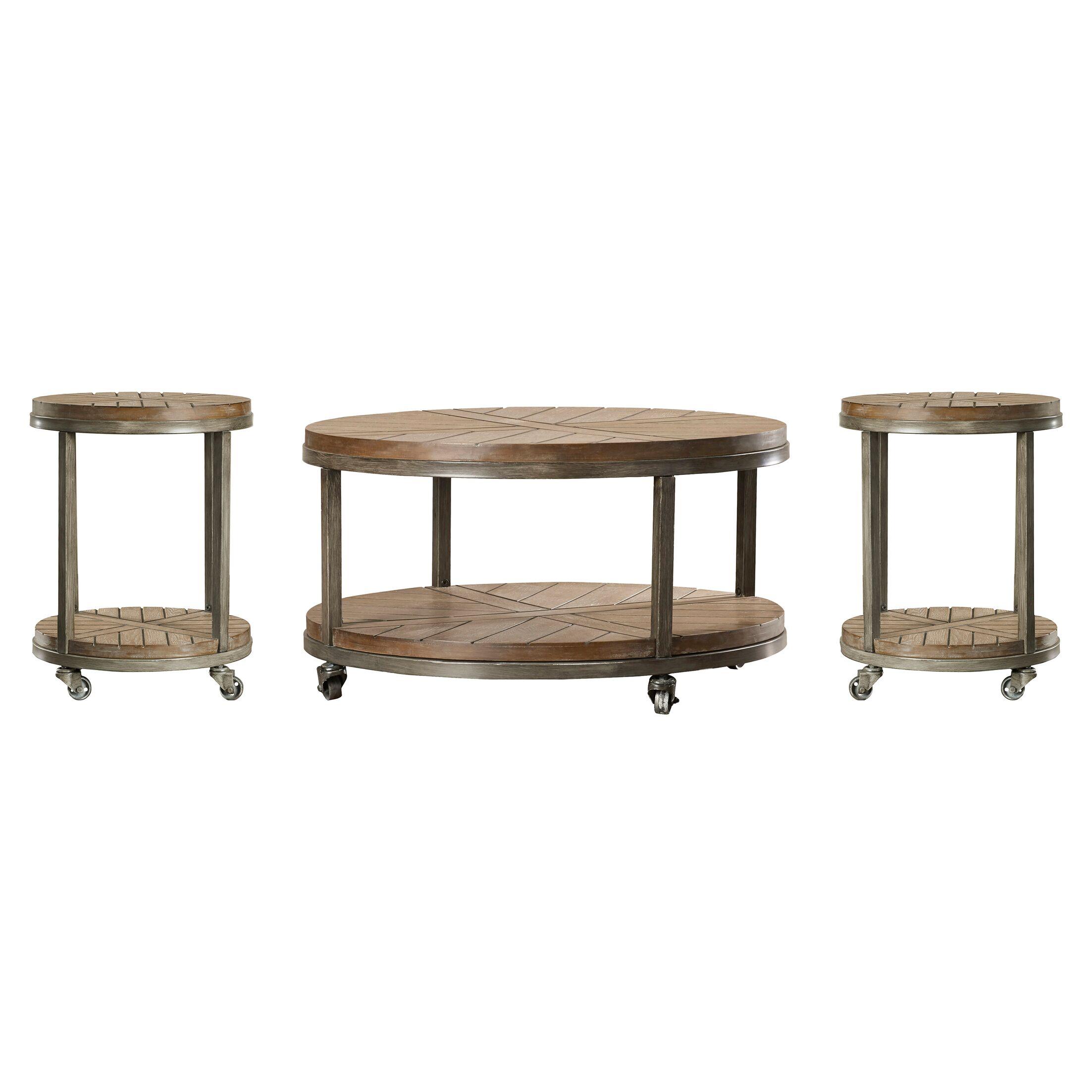 Drossett 3 Piece Coffee Table Set