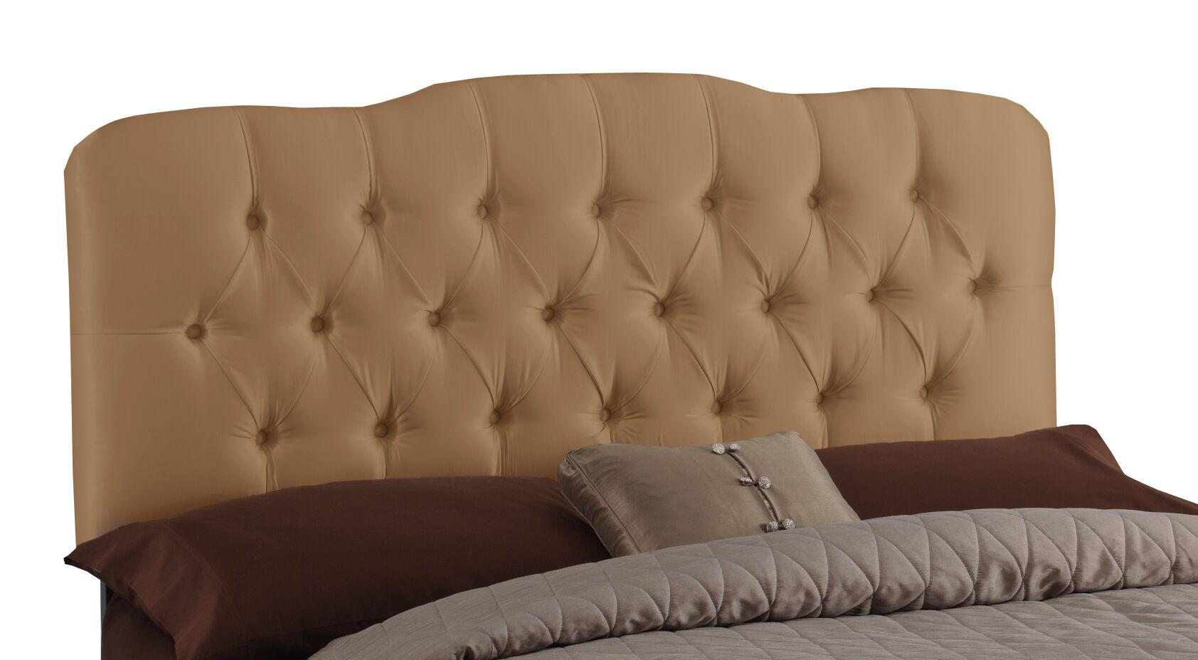 Davina Shantung Arch Upholstered Panel Headboard Size: Queen, Color: Shantung Khaki