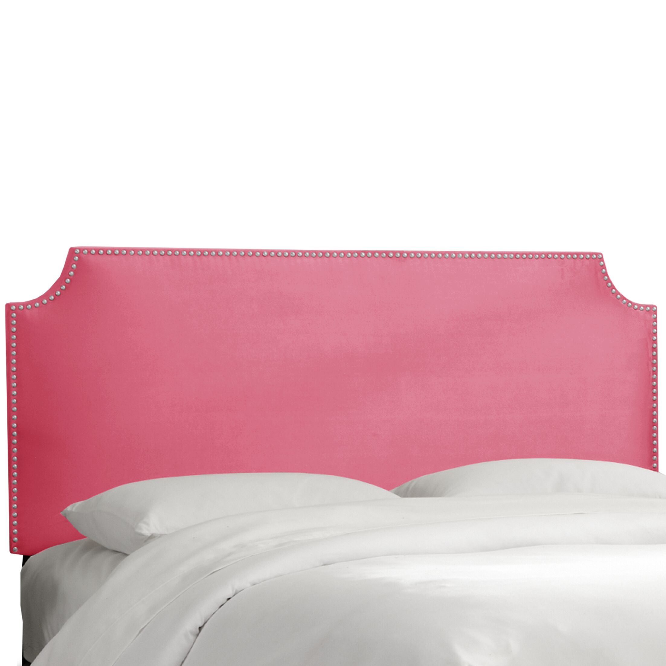 Brunella Notched Nail Button Upholstered Panel Headboard Size: King