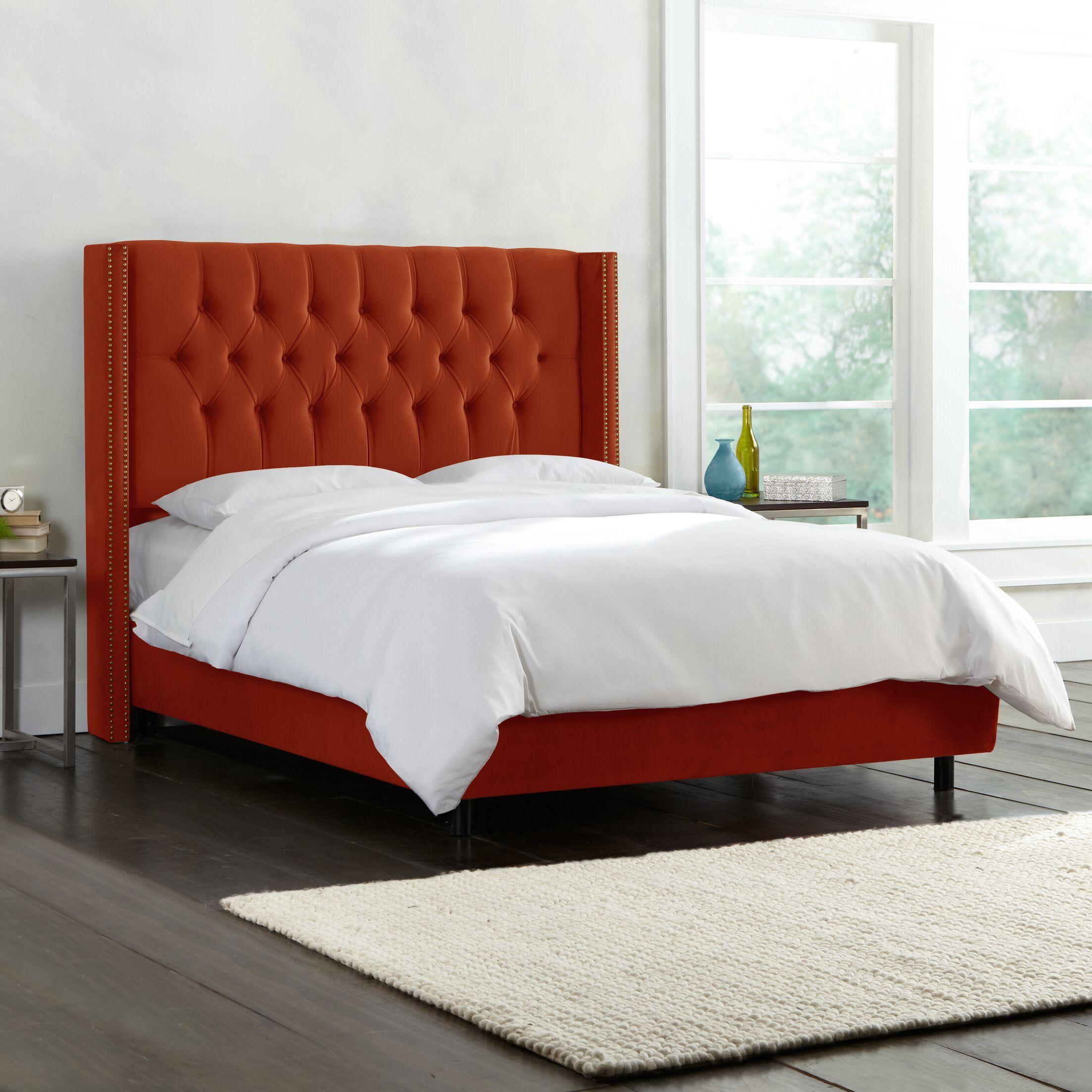 Brunella Upholstered Panel Bed Size: King, Color: Mystere Hacienda