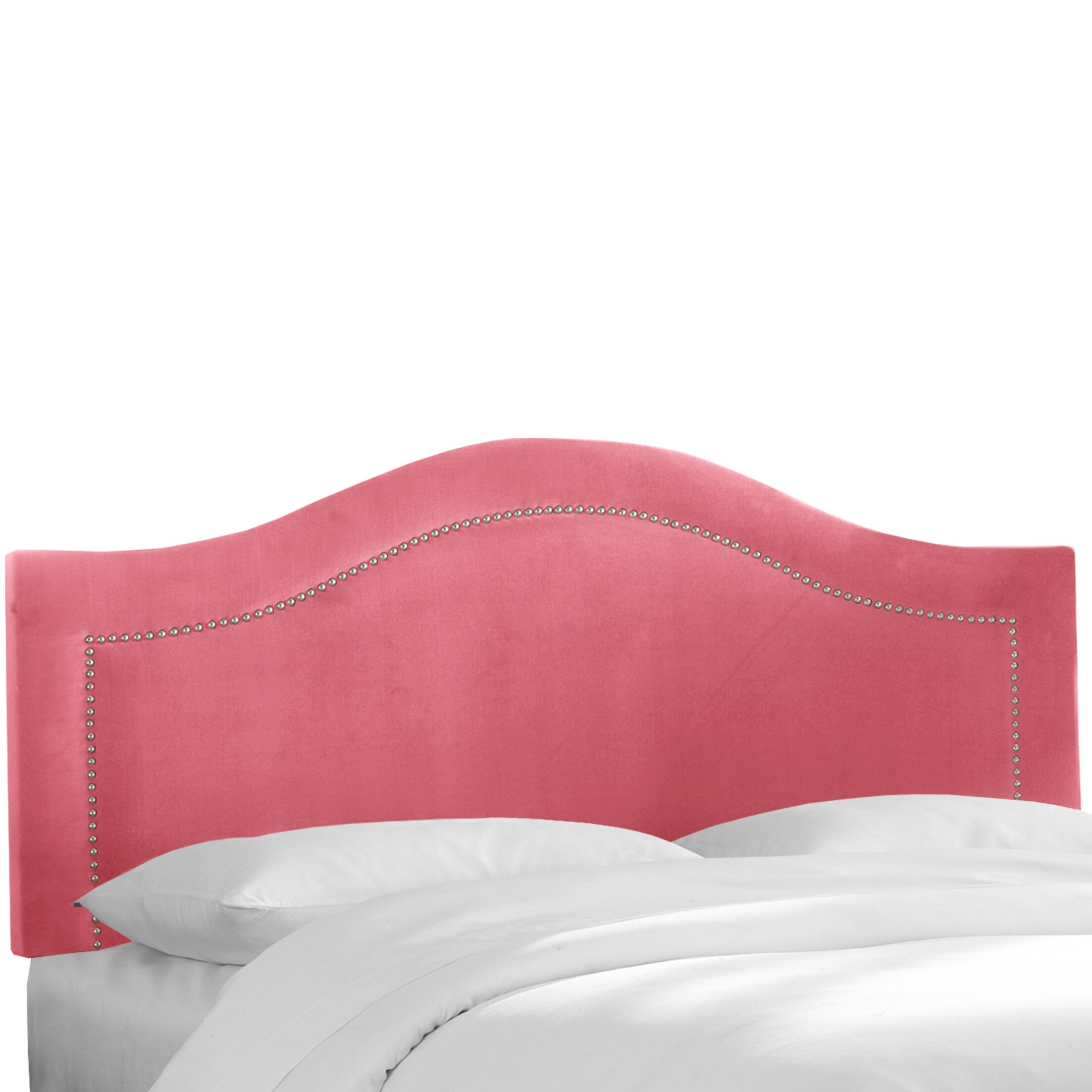 Mystere Inset Nail Button Upholstered Panel Headboard Size: King