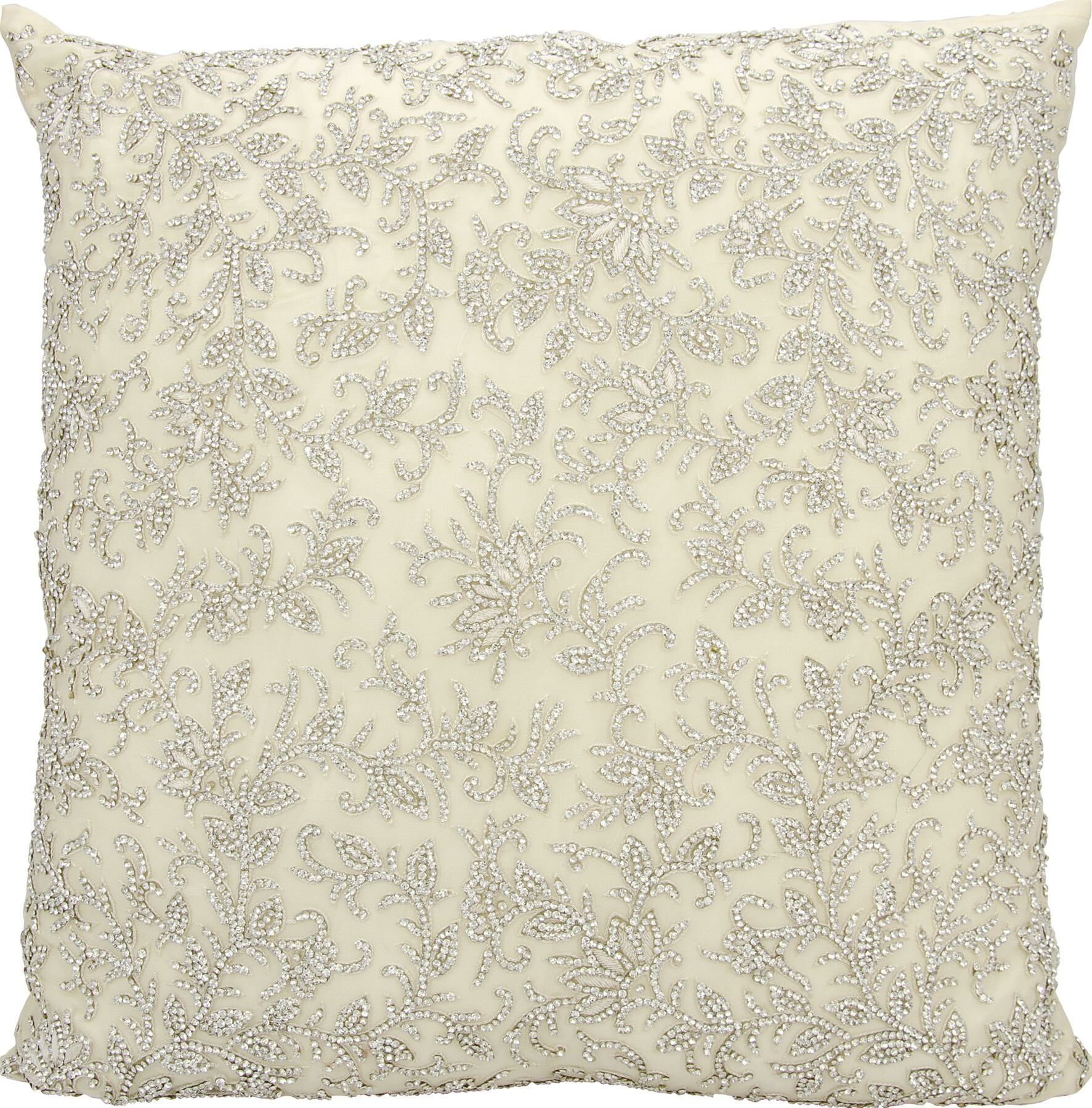 Gemstone Satin Throw Pillow