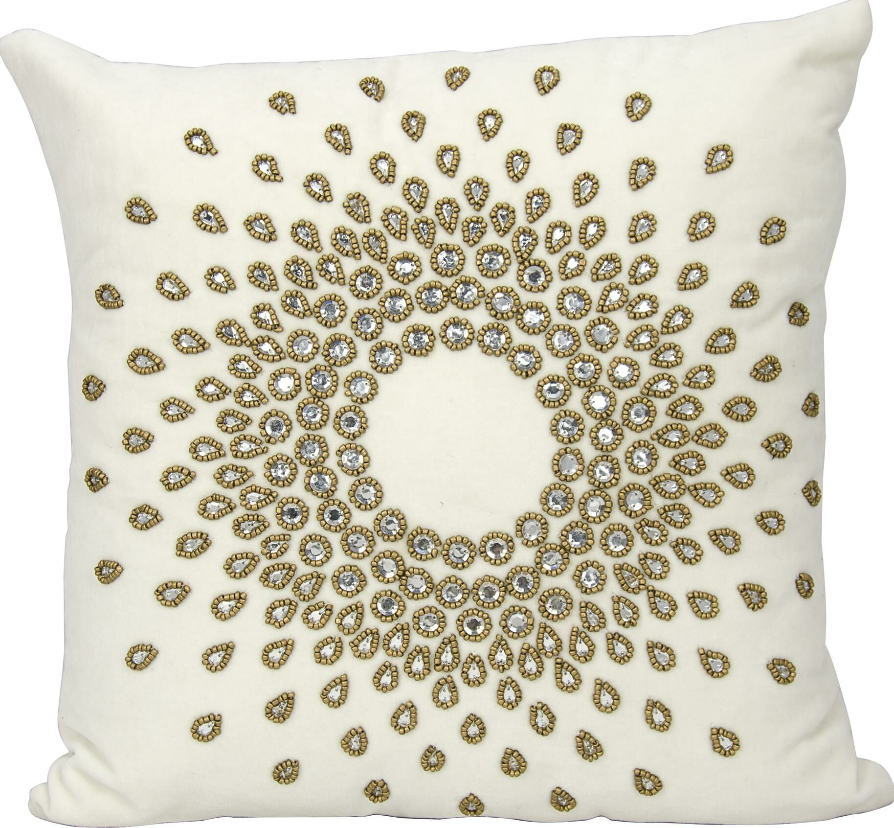Gemstone Linen Throw Pillow Color: Bronze