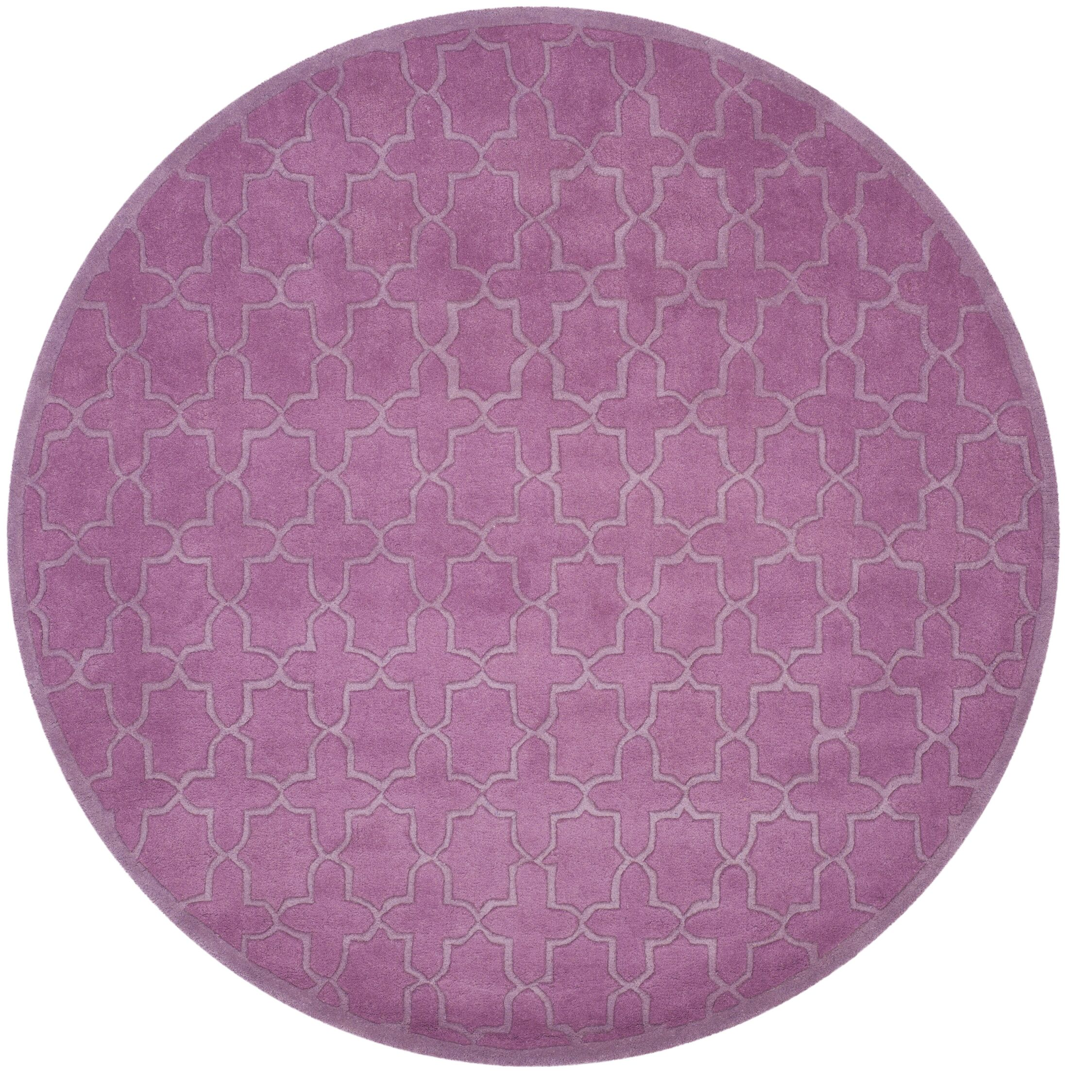 Gosport Hand-Tufted Dark Pink Area Rug Rug Size: Rectangle 6' x 9'