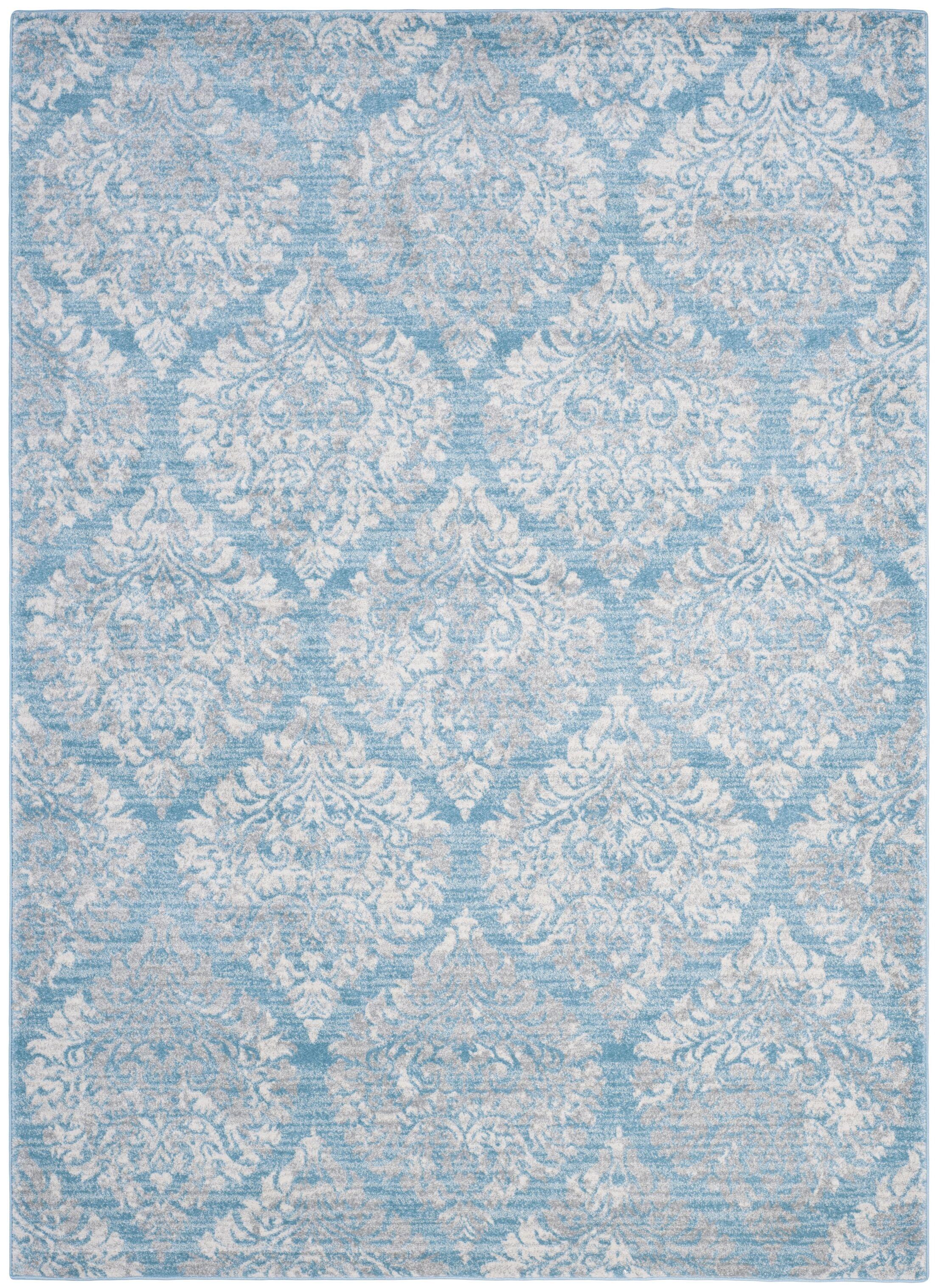 Augustus Light Blue/Ivory Area Rug Rug Size: Rectangle 4' x 6'