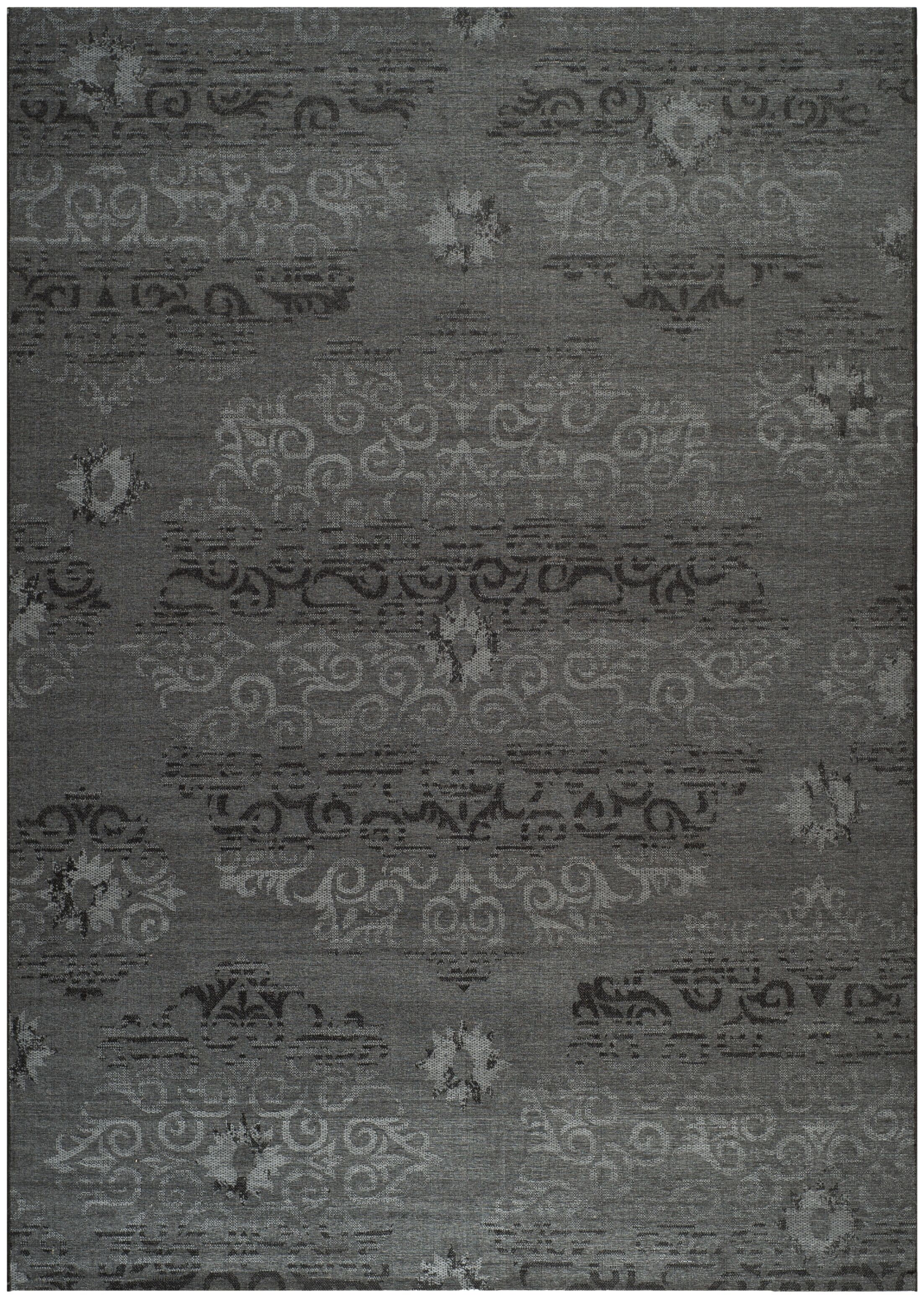 Chipping Ongar Black / Grey Area Rug Rug Size: Rectangle 8' x 11'