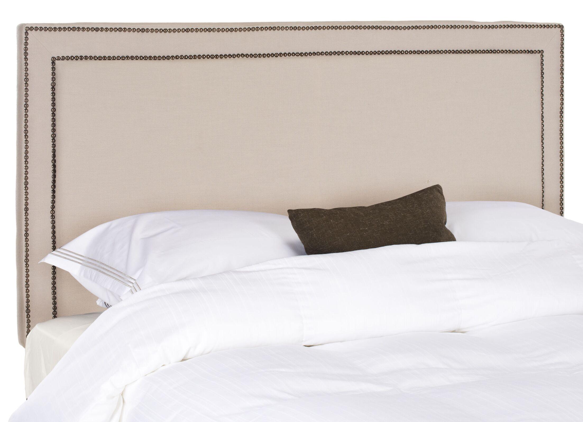 Ginger Upholstered Panel Headboard Upholstery: Linen Taupe, Size: Full