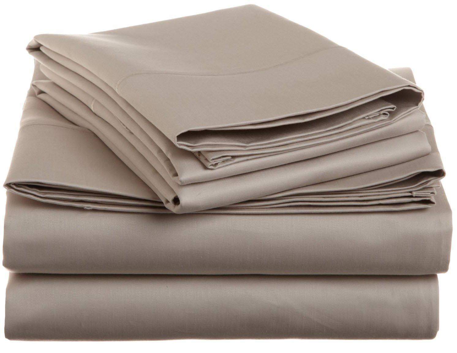 Covertt 1500 Thread Count 100% Cotton Sheet Set Color: Stone, Size: Full