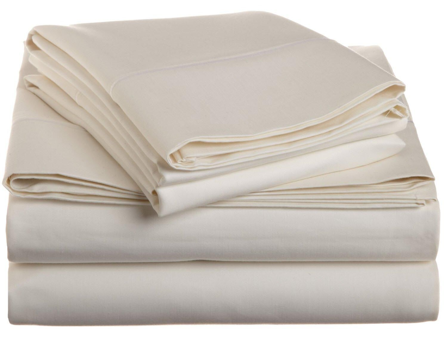 Covertt 1500 Thread Count 100% Cotton Sheet Set Size: Queen, Color: Ivory