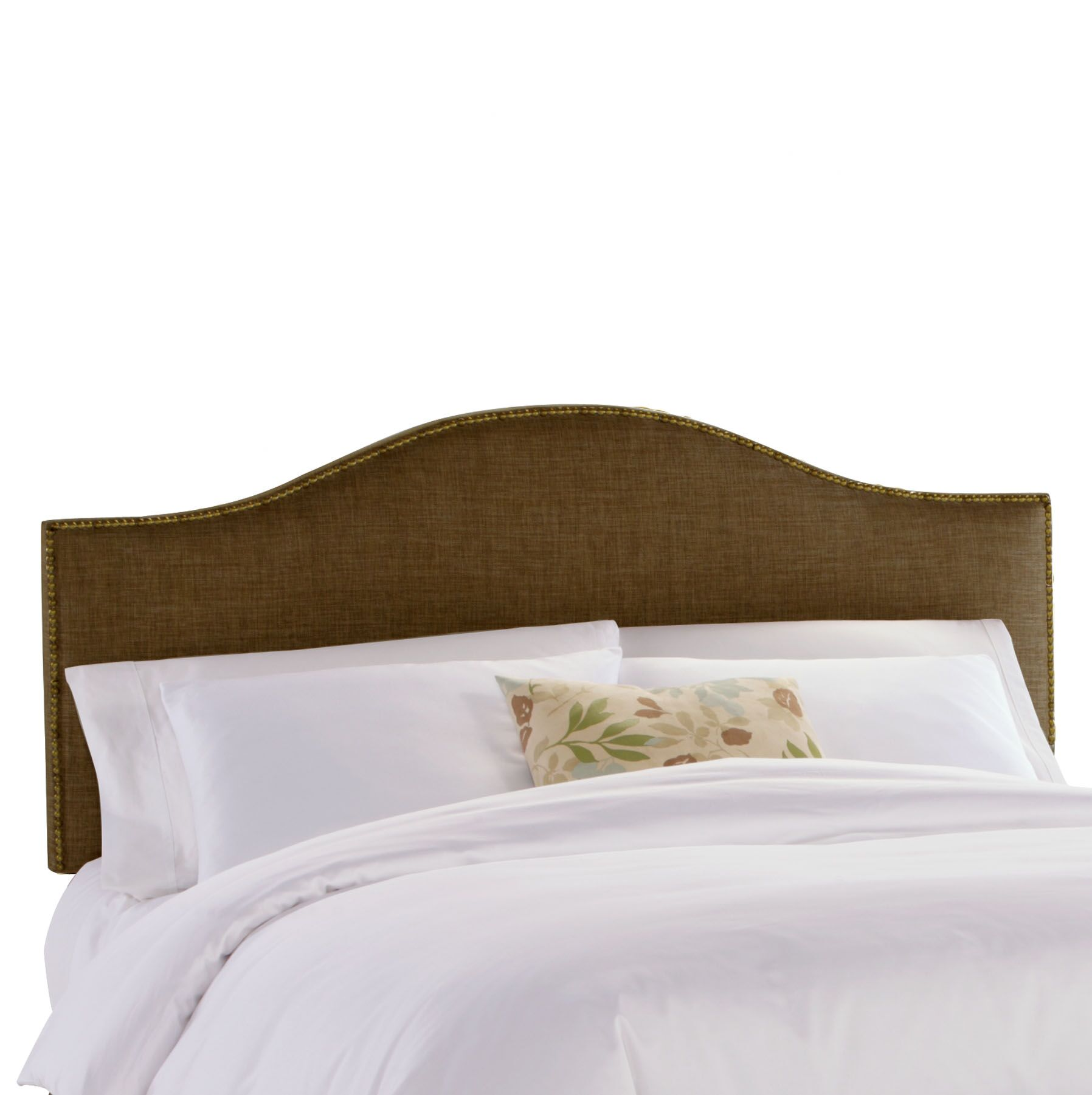 Aubuchon Nail Button Upholstered Panel Headboard Size: Twin, Upholstery: Groupie Praline