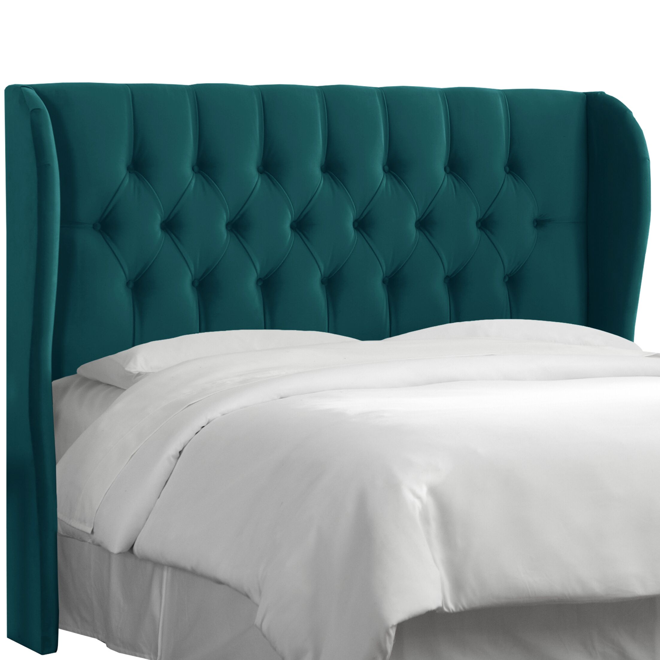 Absher Tufted Upholstered Wingback Headboard Size: King