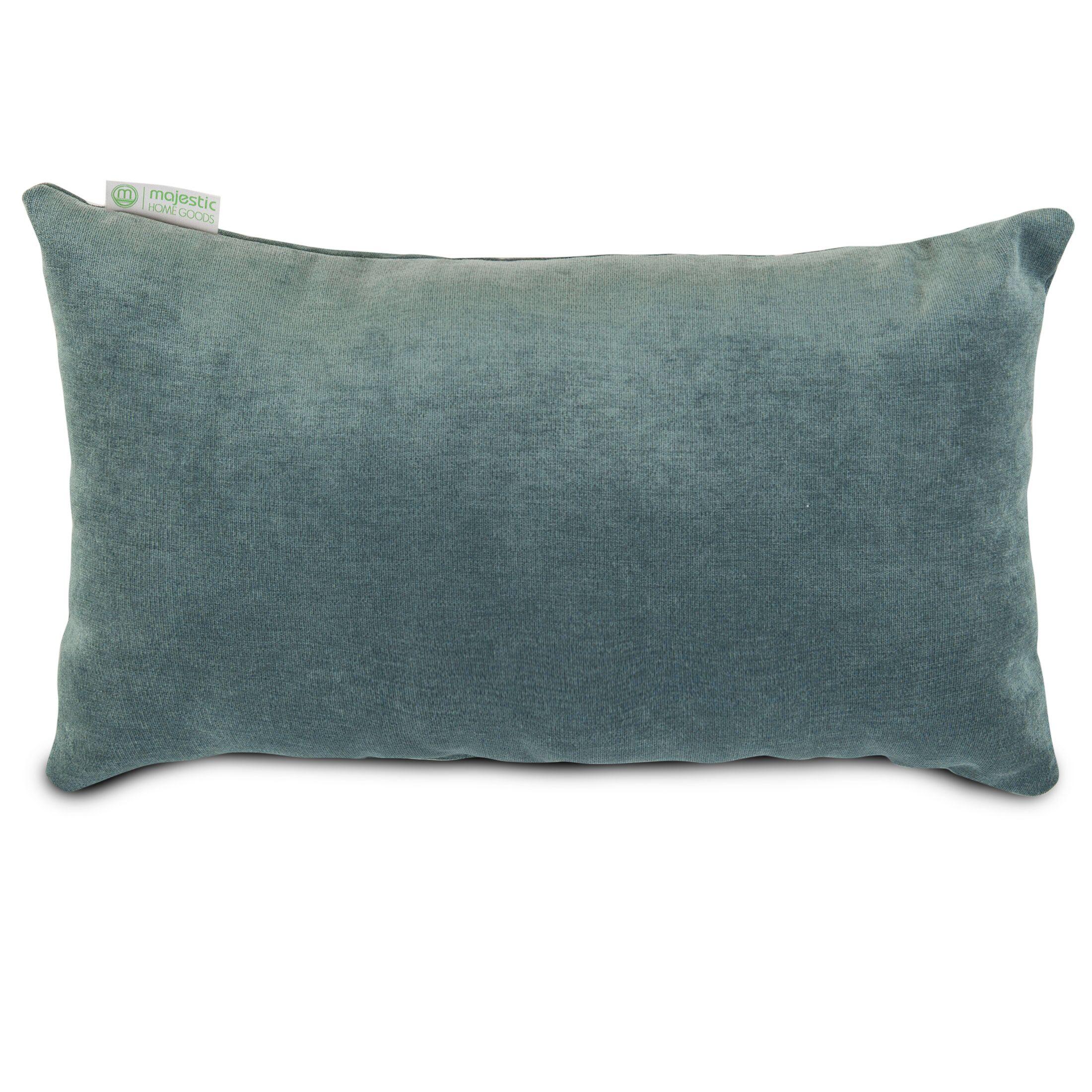 Edwards Velvet Lumbar Pillow Color: Azure