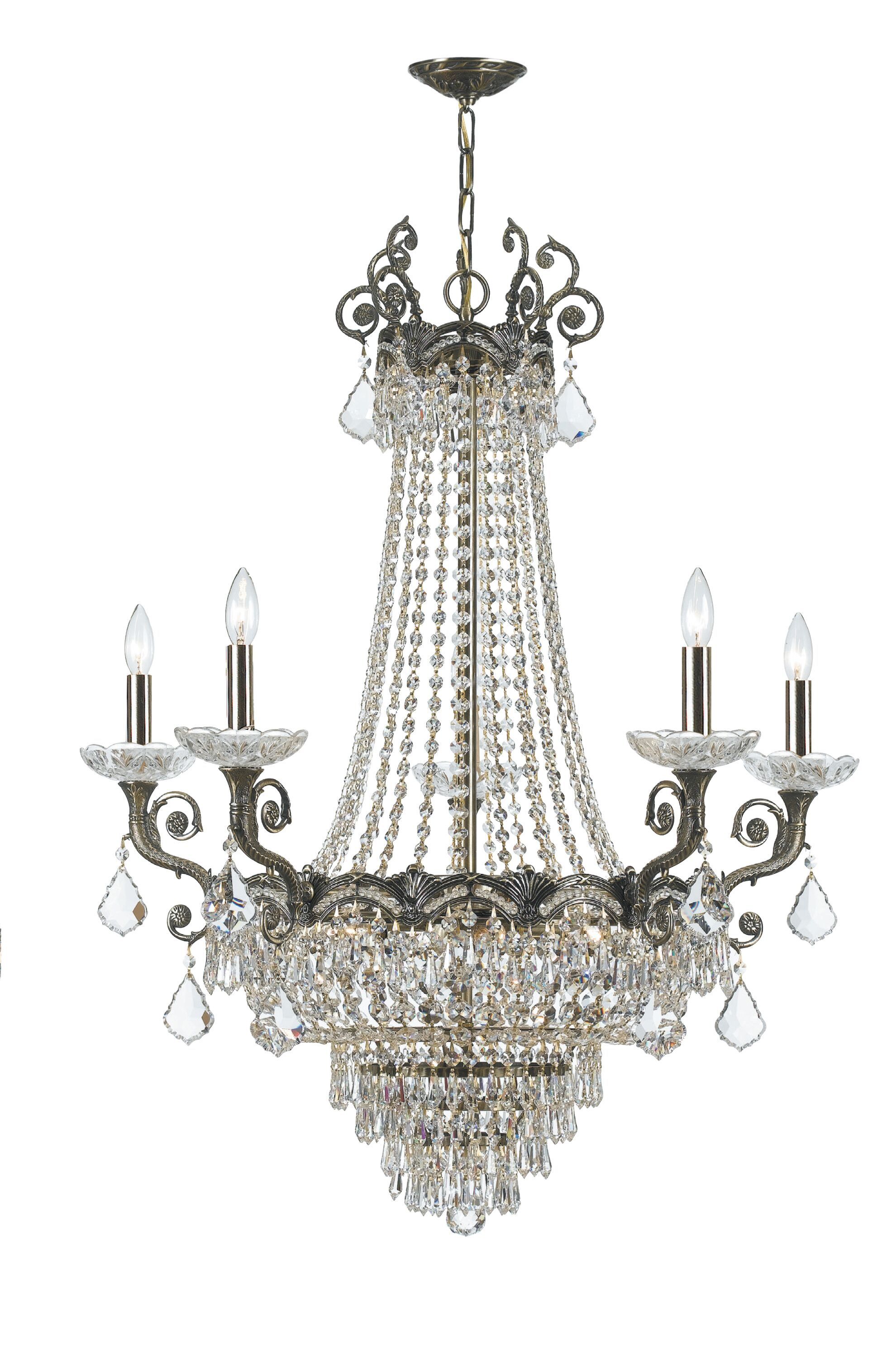 Rupelmonde 13-Light Empire Chandelier Crystal: Swarovski Spectra