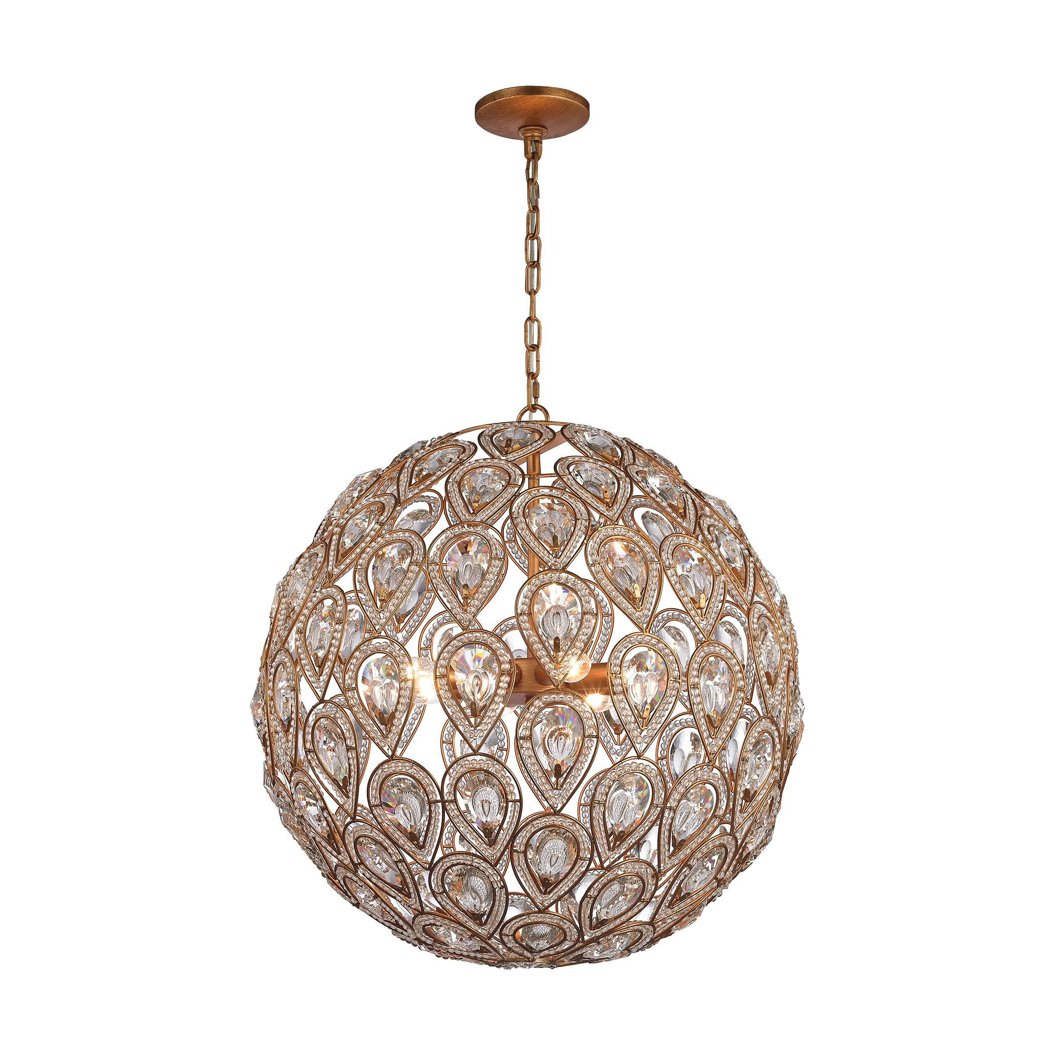 Norwich 8-Light Crystal Chandelier Finish: Matte Gold, Bulb Type: 60W Incandescent
