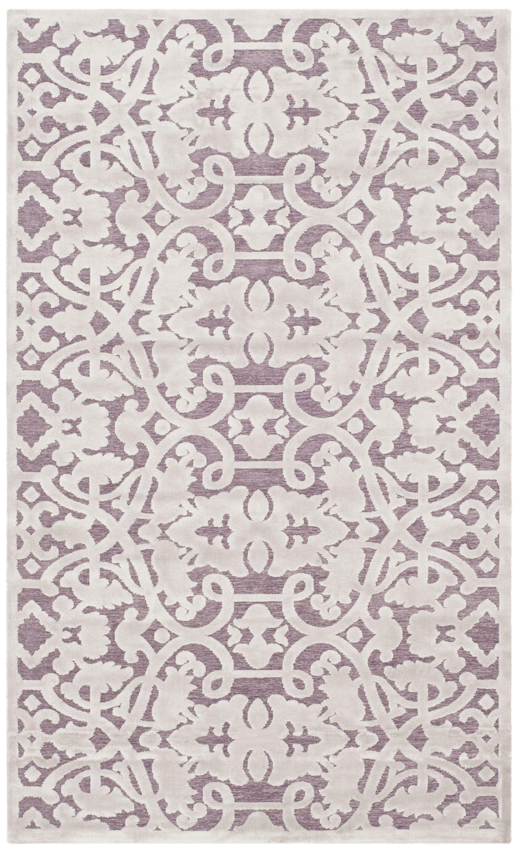 Bilboro Mauve/Violet Area Rug Rug Size: Rectangle 3' x 5'