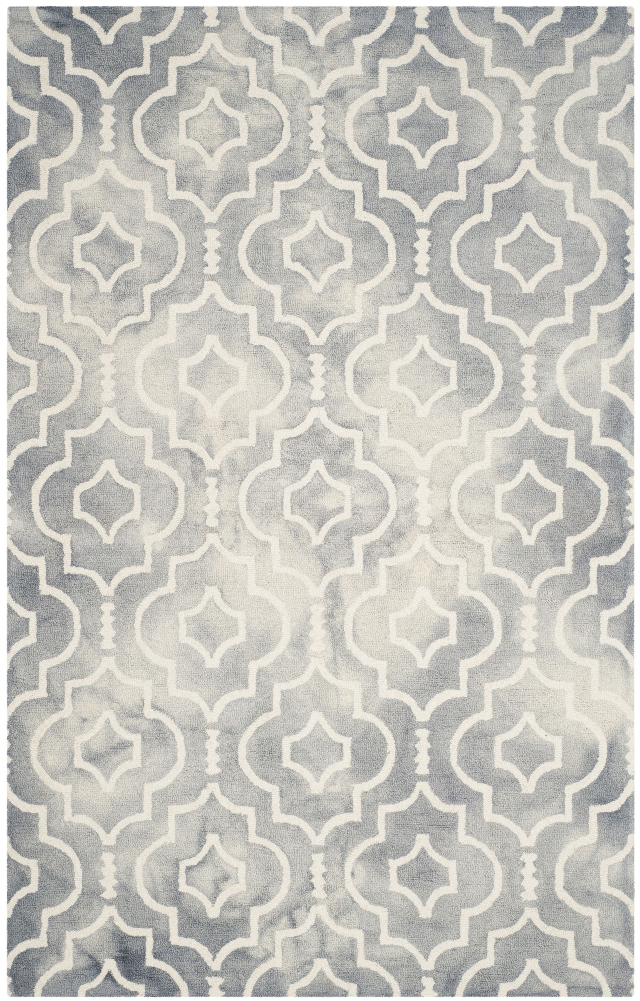 Berman Dip Dye Gray/Ivory Area Rug Rug Size: Rectangle 6' x 9'