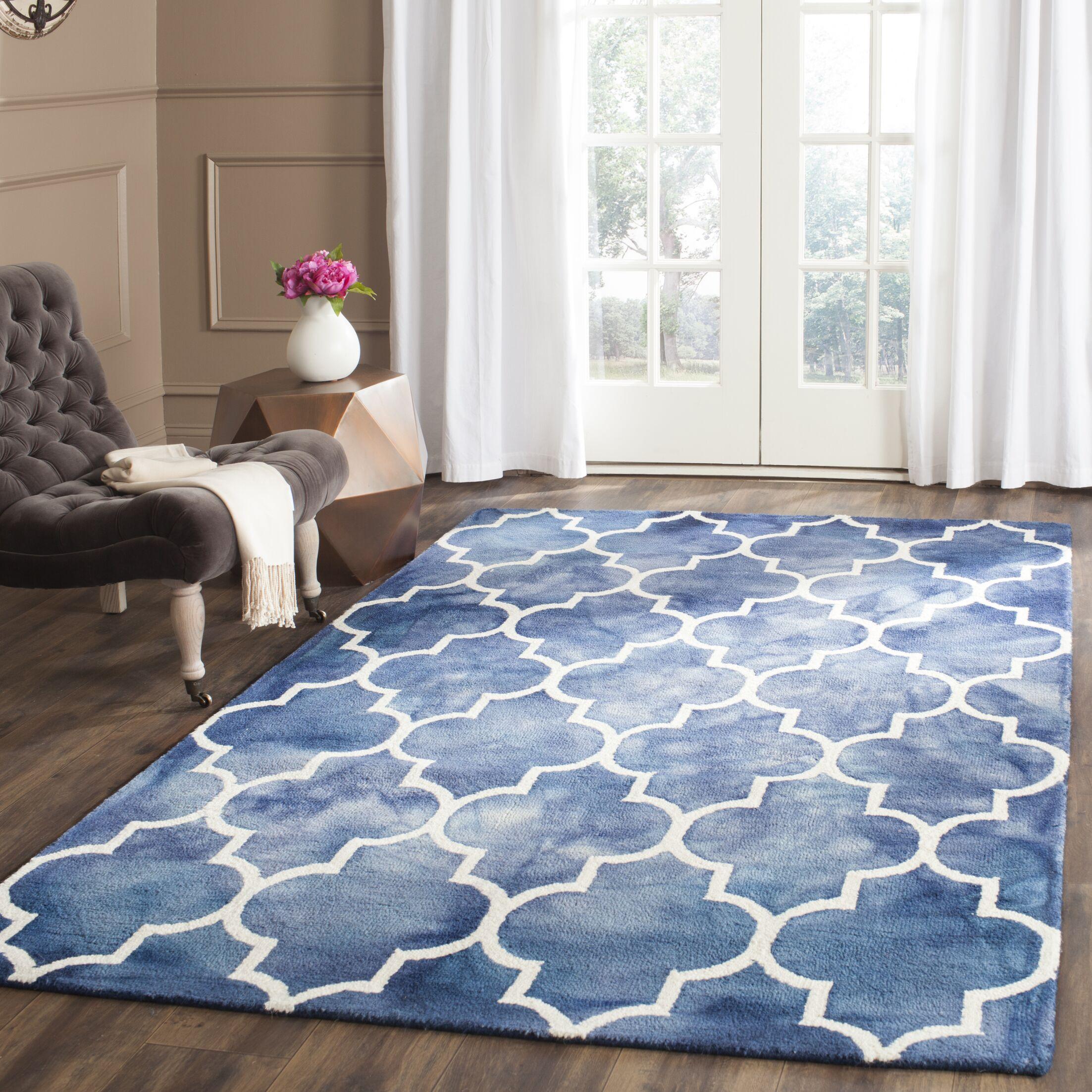 Berman Dip Dye Navy & Ivory Area Rug Rug Size: Rectangle 5' x 8'