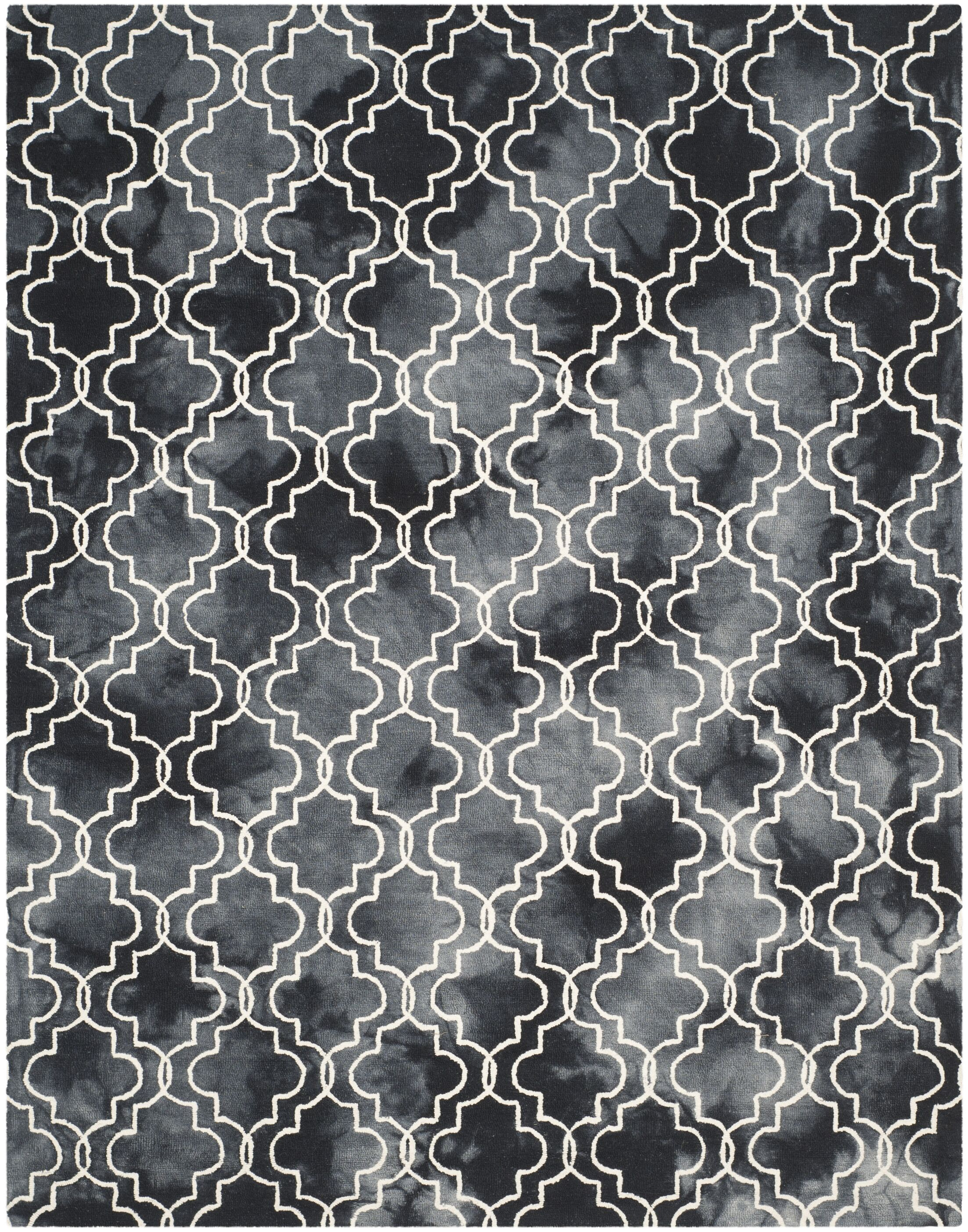 Matthews Hand-Tufted Graphite/Ivory Area Rug Rug Size: Rectangle 5' x 8'