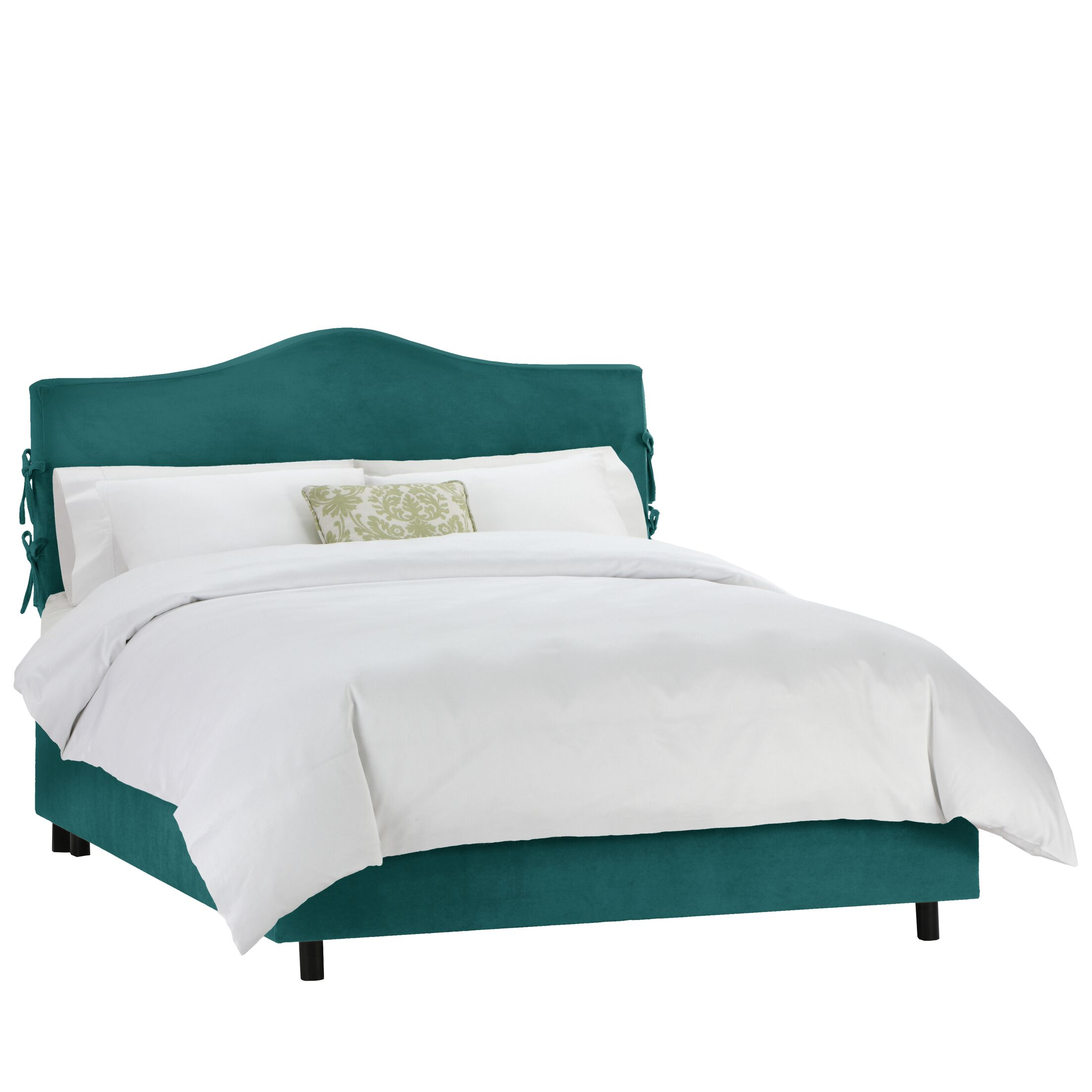 Tatum Upholstered Panel Bed Size: Twin, Color: Mystere Peacock
