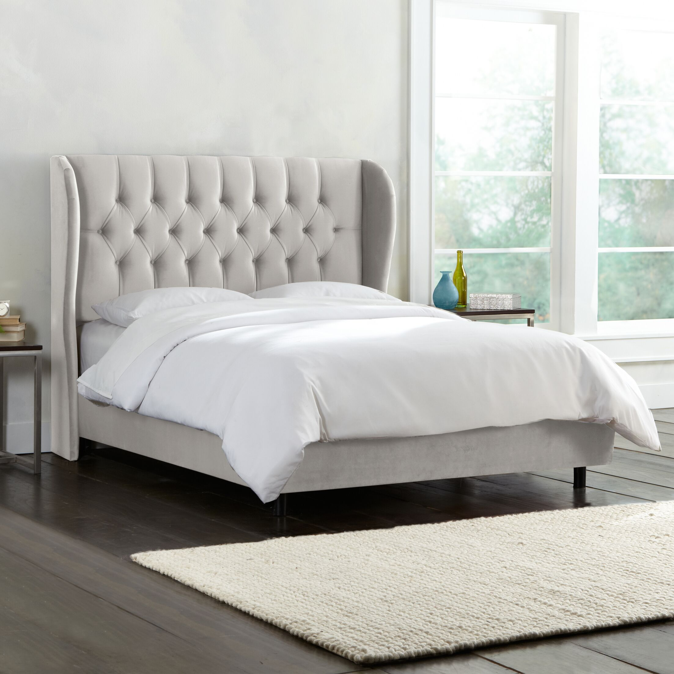 Darrie Upholstered Panel Bed Color: Mystere Dove, Size: King