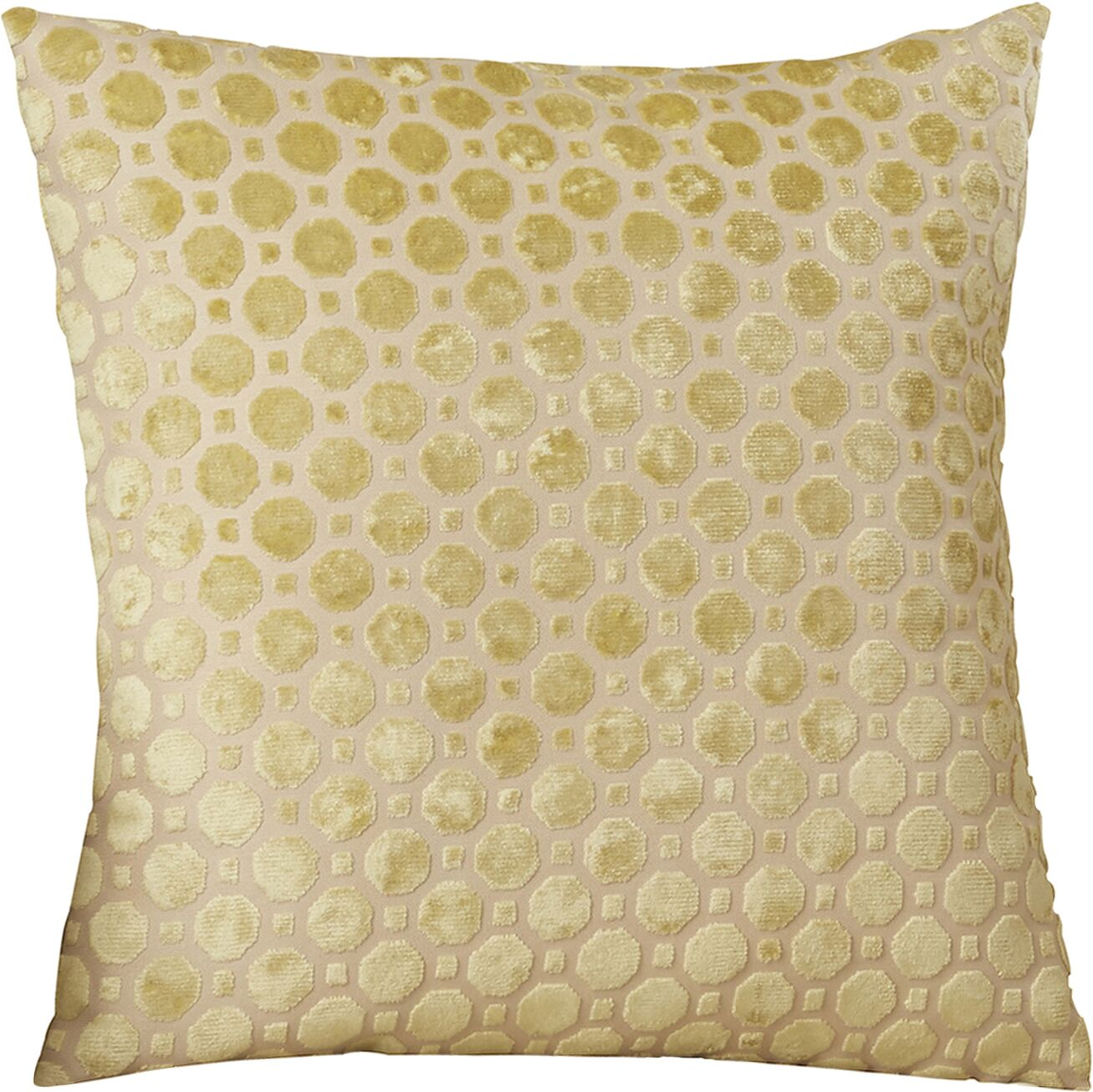 Carlie Velvet Throw Pillow Color: Citrine, Size: 18