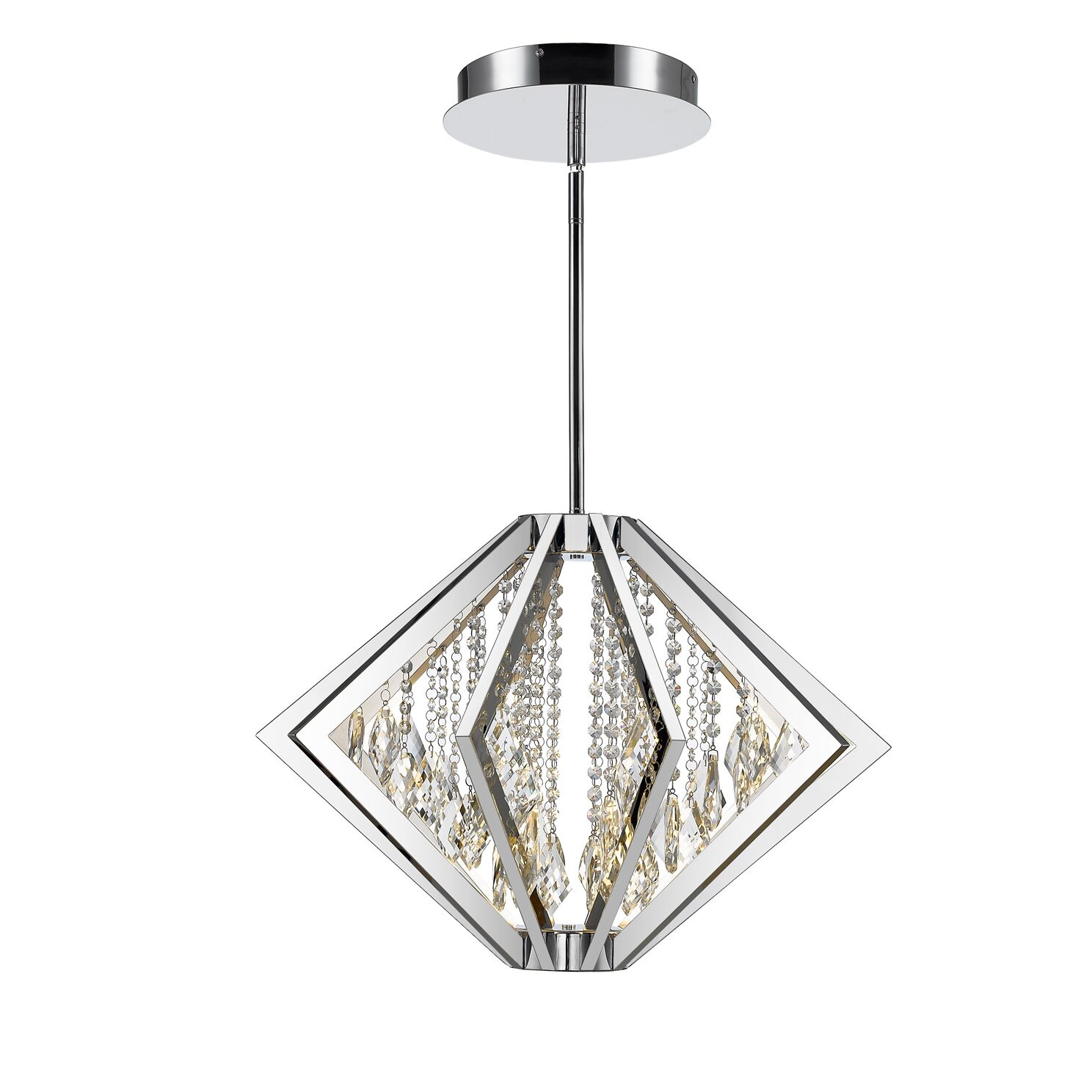 Rafaella  LED Crystal Pendant Size: 18