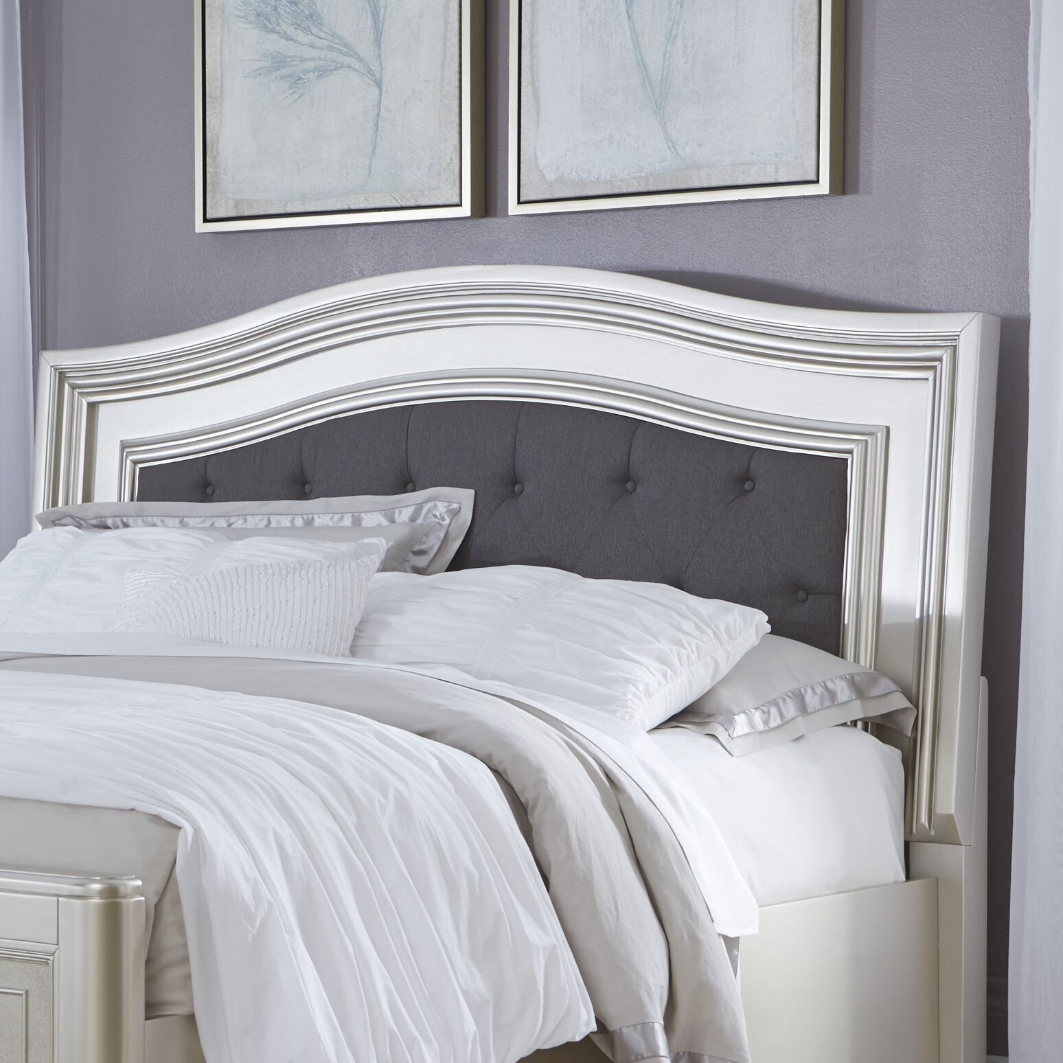 Guillaume Upholstered Panel Headboard Size: Queen