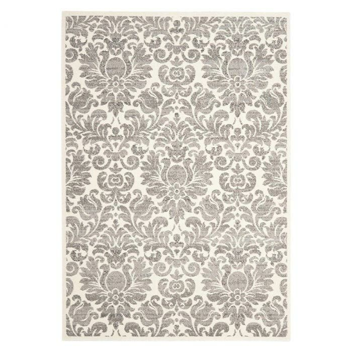 Roisin Gray/Ivory Area Rug Rug Size: Rectangle 2'7