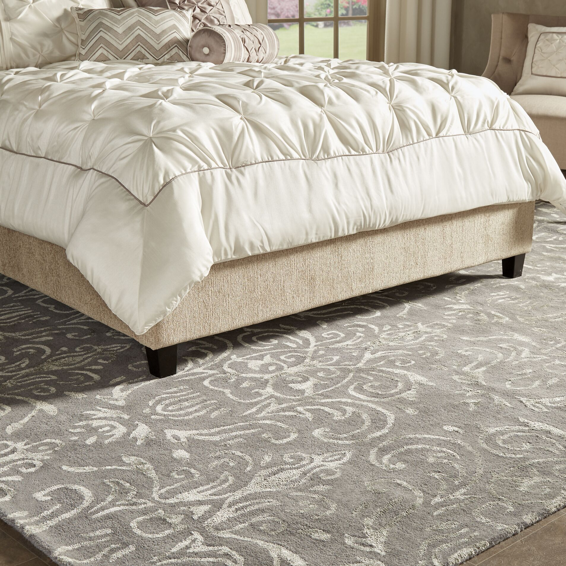 Brandt Hand-Tufted Gray Area Rug Rug Size: Rectangle 5' x 8'