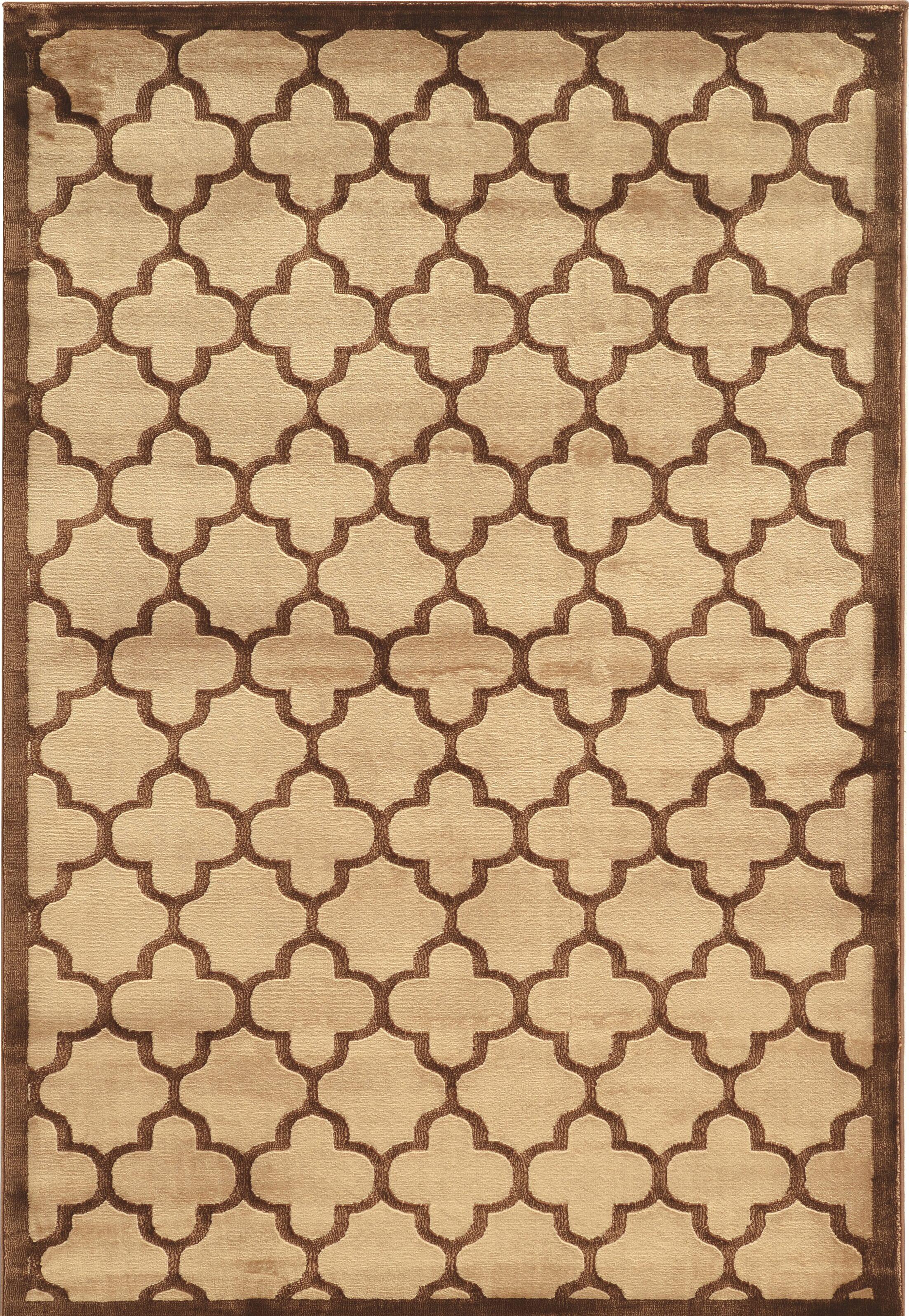 Belper Beige/Brown Area Rug Rug Size: Rectangle 5' x 7'6