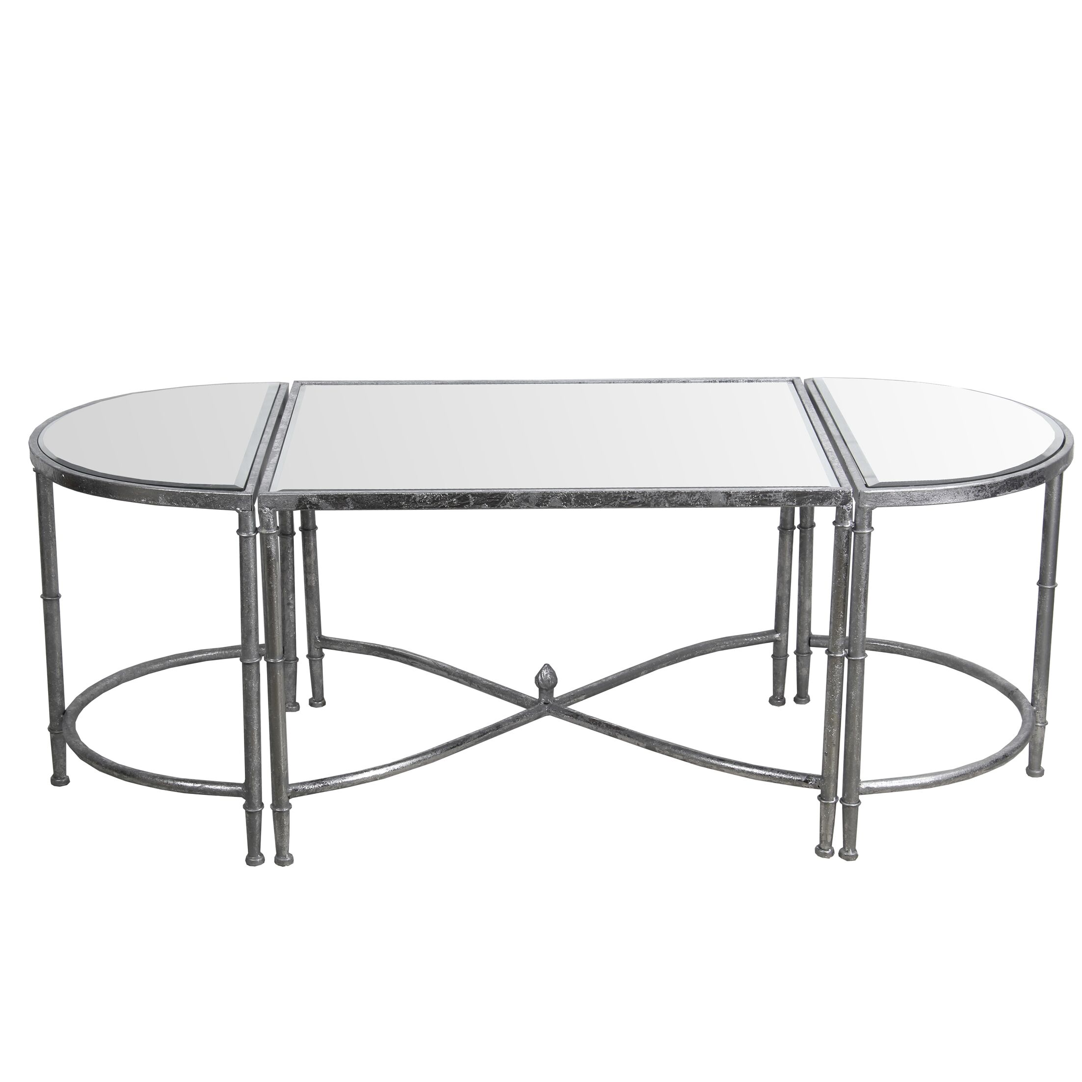 Gofried 3 Piece Coffee Table Set Color: Silver Leaf
