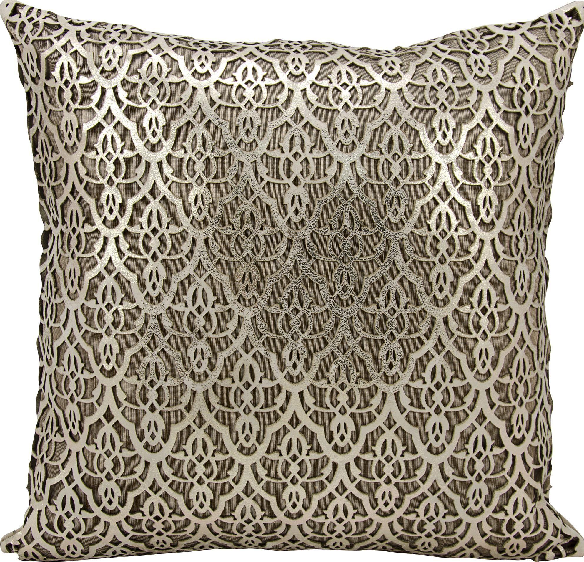 Cormac Natural Hide Lumbar Pillow Color: Gold/Beige