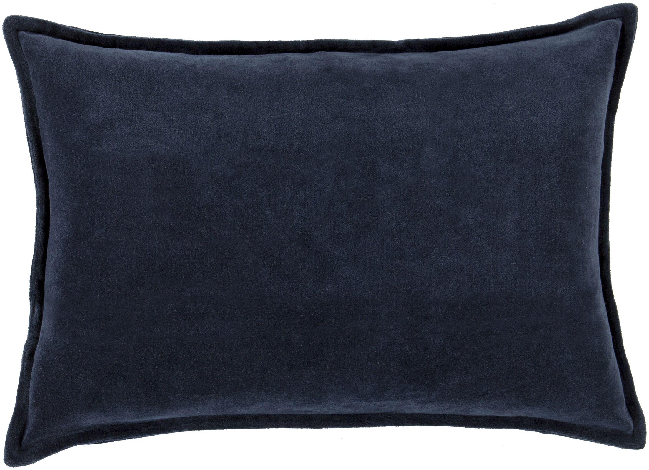 Cotton Lumbar Pillow Color: Dark Sky Blue, Fill Material: Down