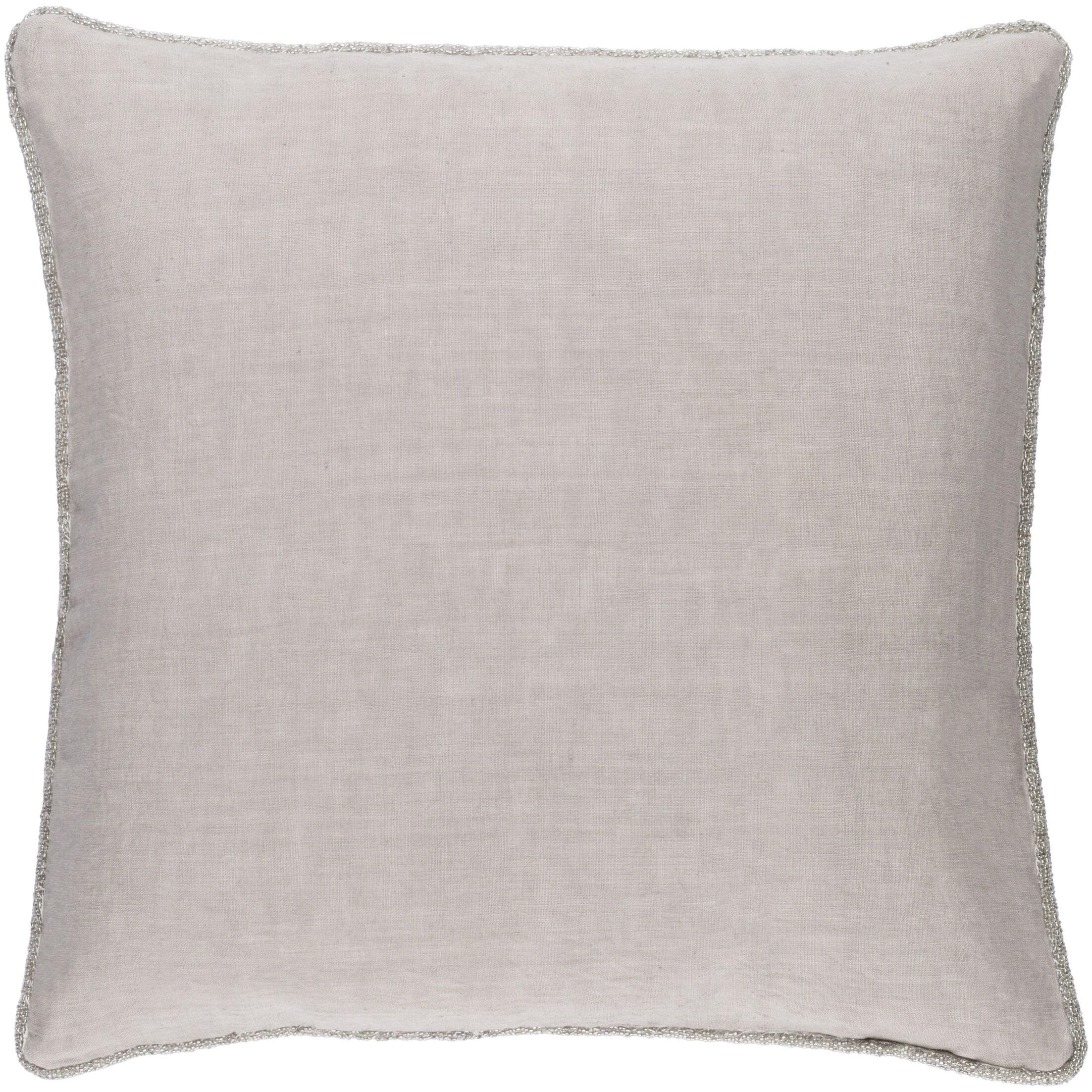 Sera 100% Linen Throw Pillow Cover Size: 22